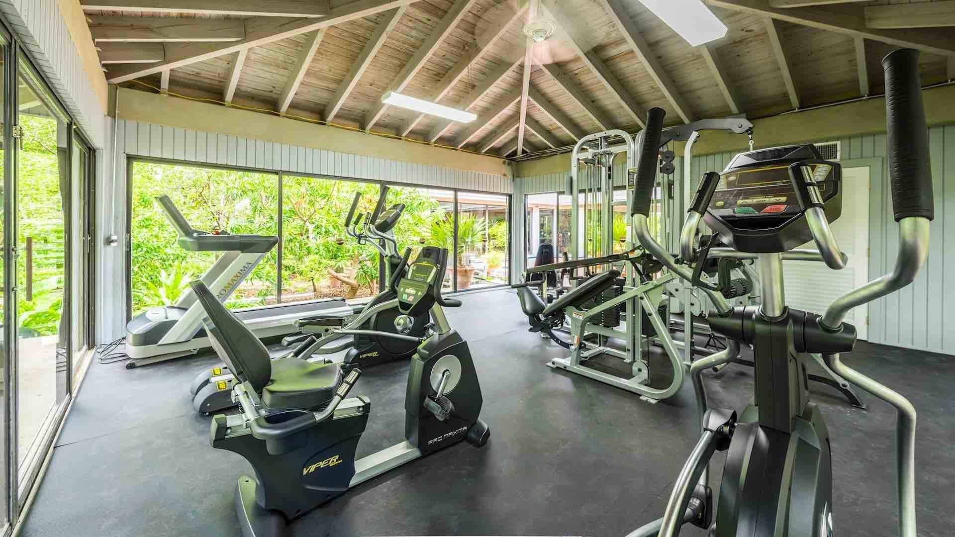 Break a sweat using the new fitness center...