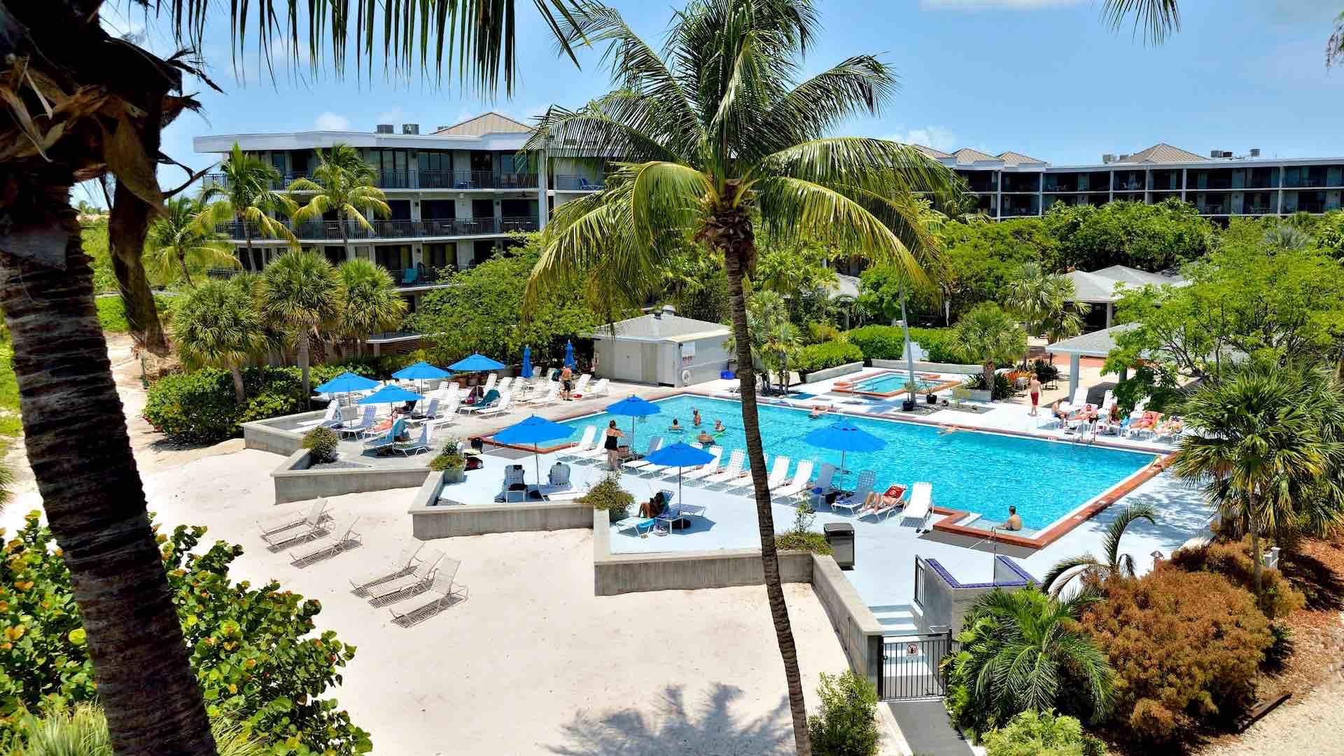 The community pool is one of the largest in Key West and is on the beach...