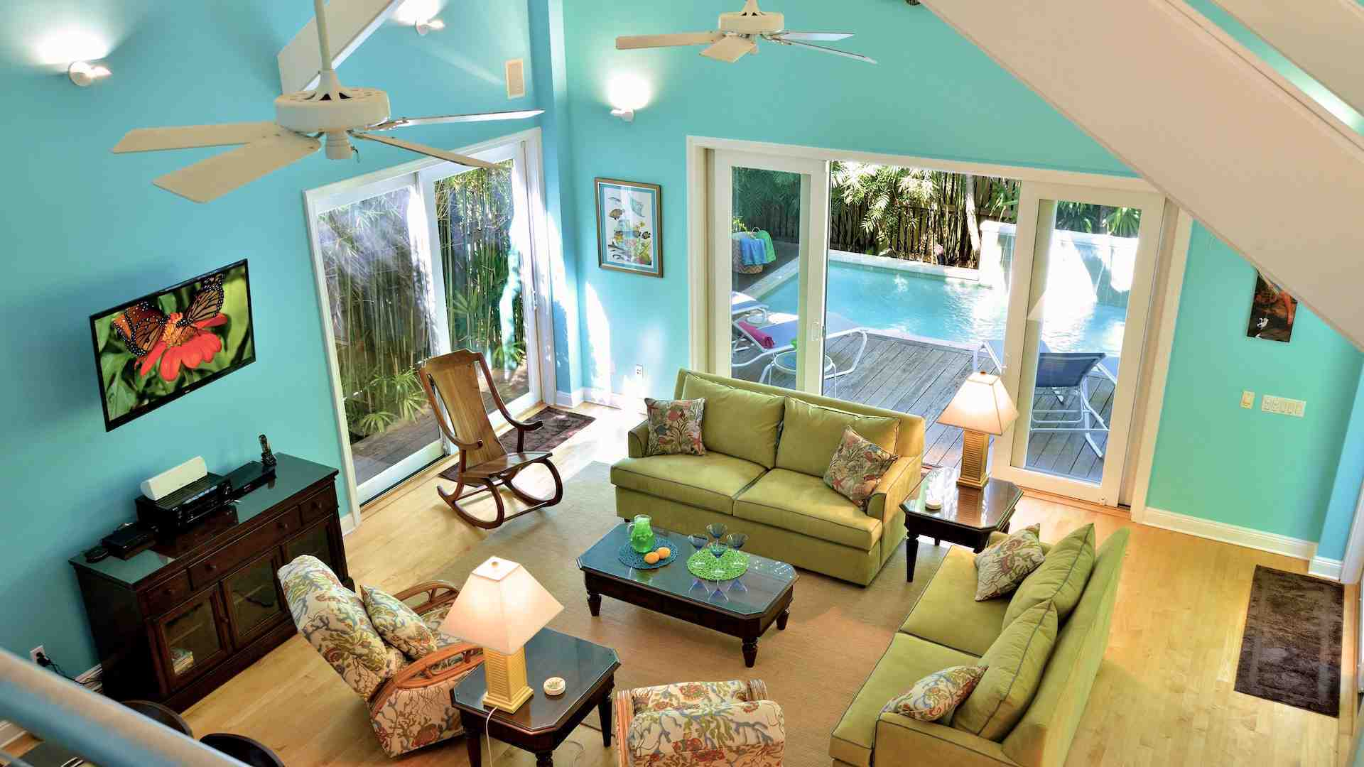 The dramatic 22 foot ceilings provide a wonderful sense of light and airiness...