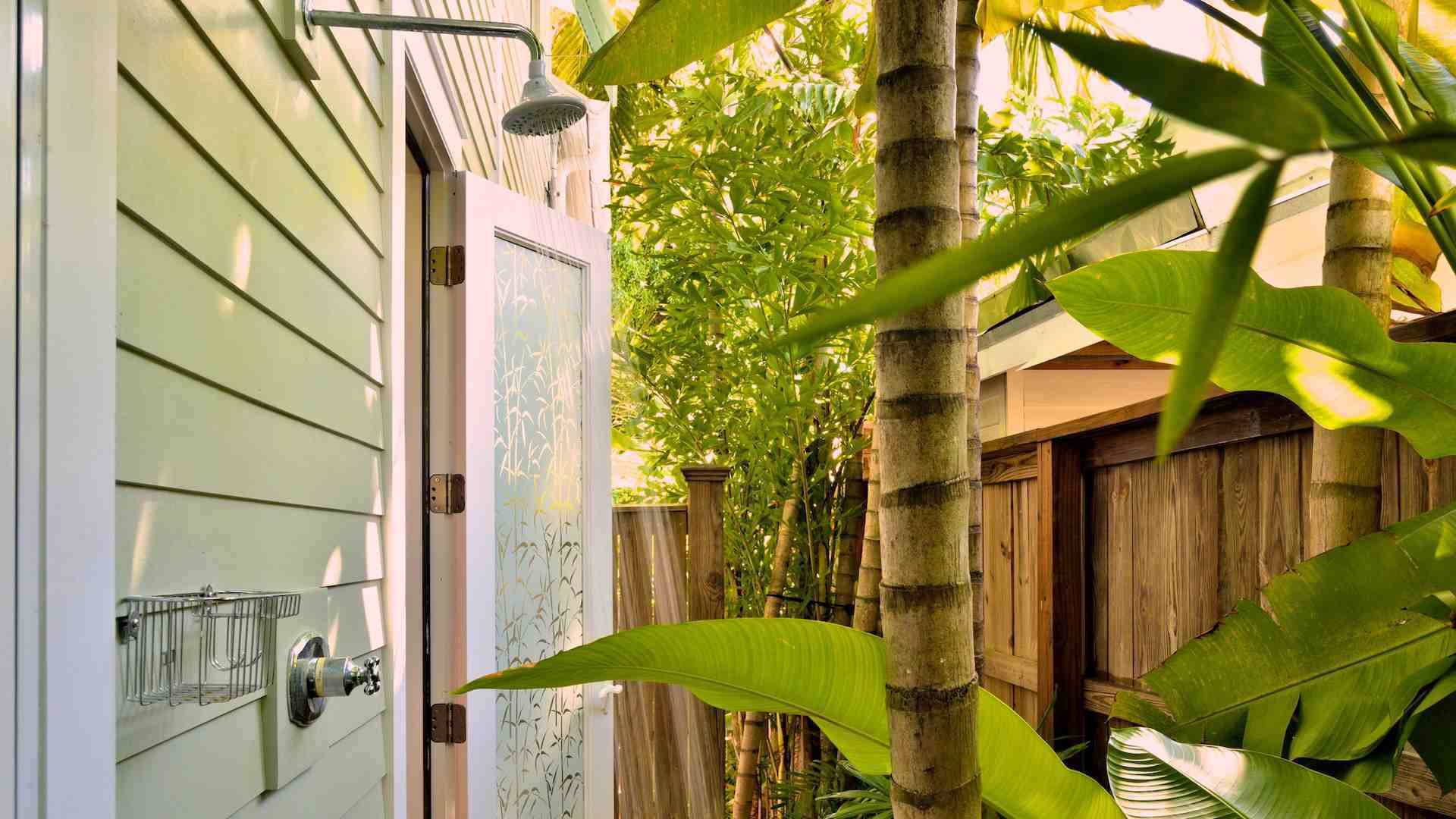 The master bathroom even has its own private outdoor shower...