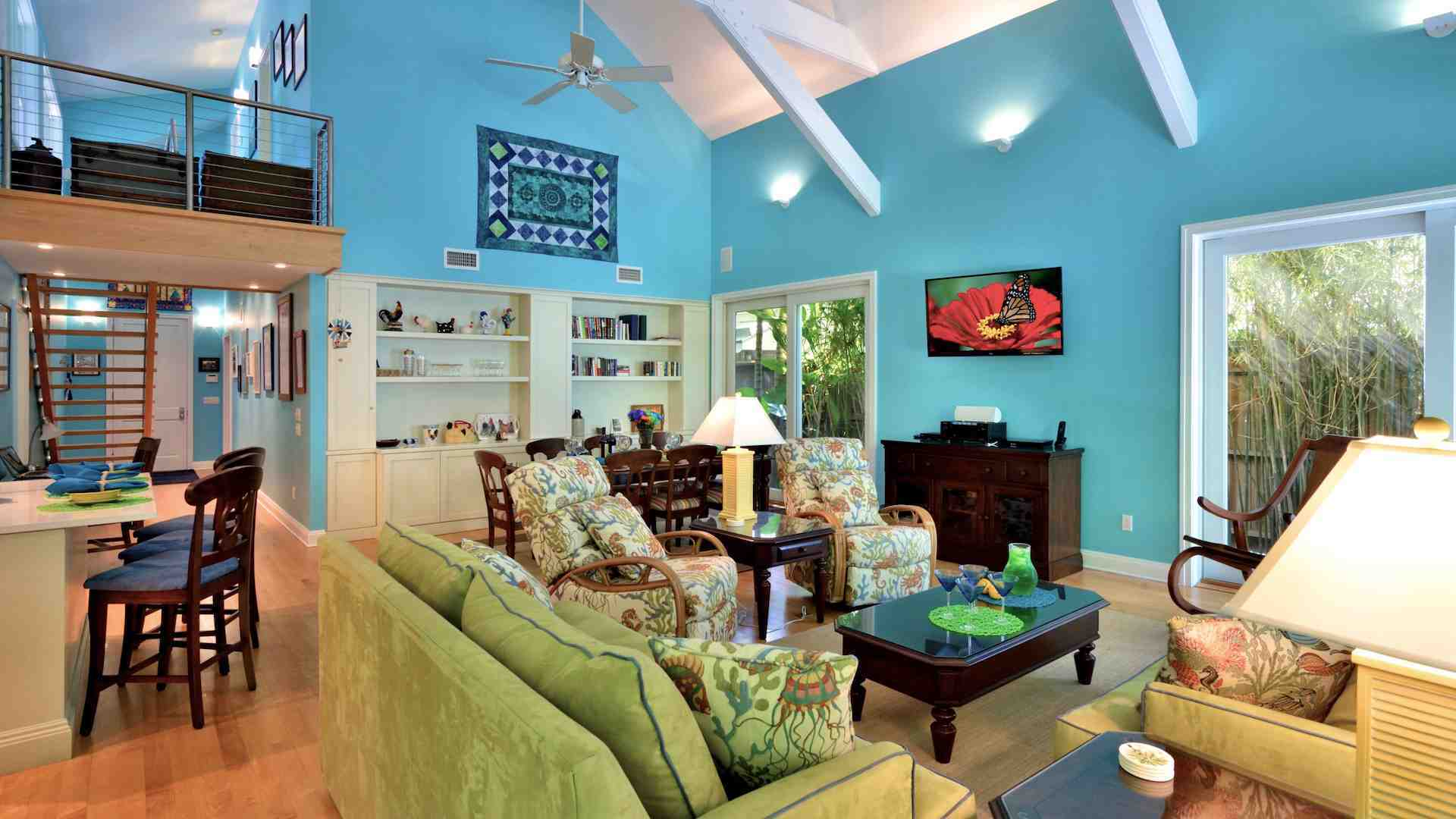 The wide open plan is perfect for entertaining in the tropics...