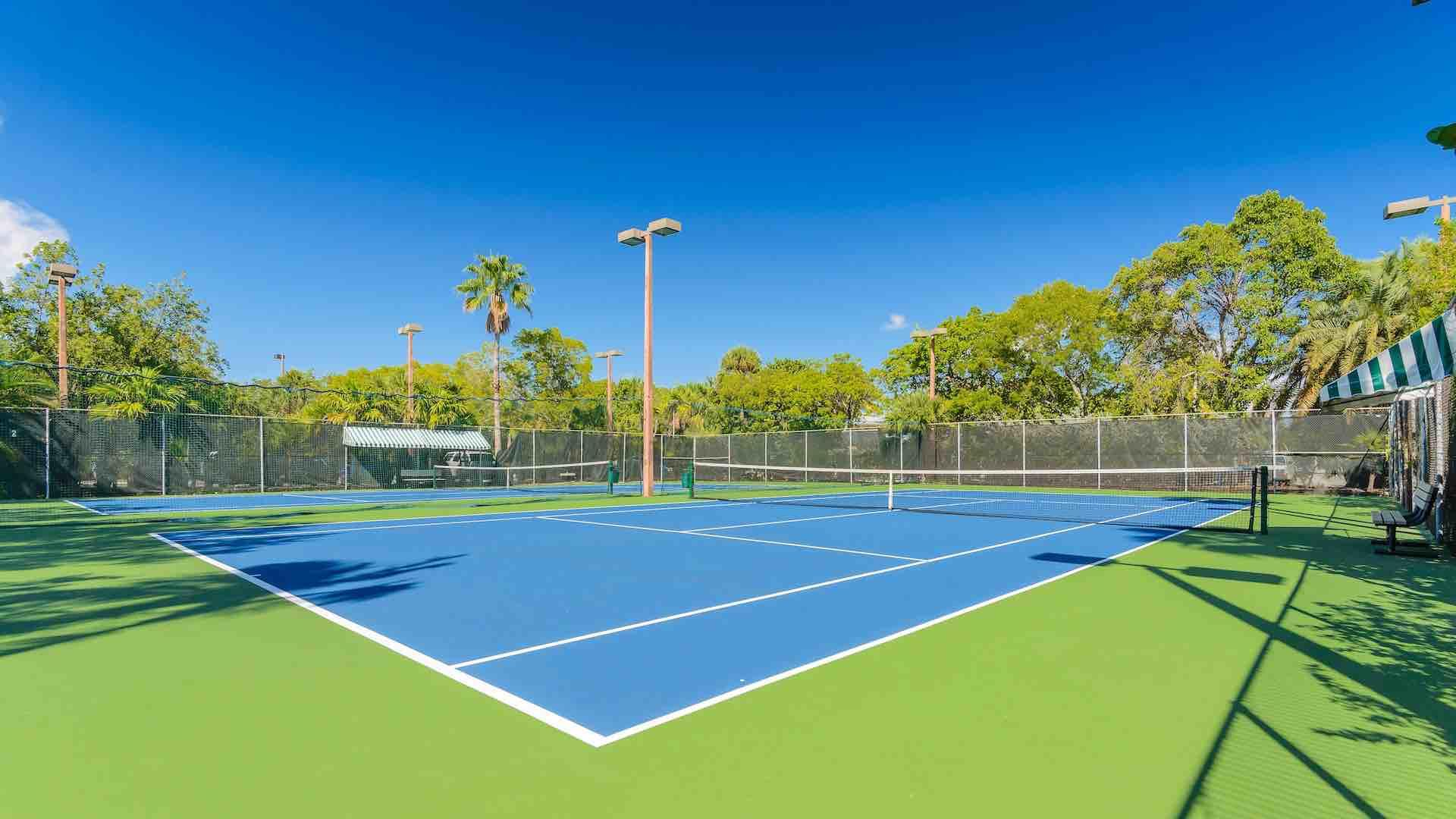 You can book time on Key West's nicest tennis courts, located right on property at 1800 Atlantic...