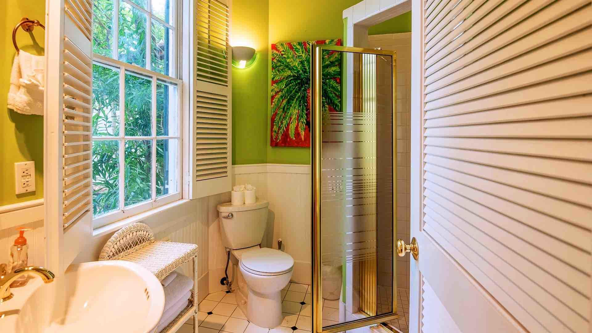 There is a full bathroom on the main floor that is perfect for additional guests.