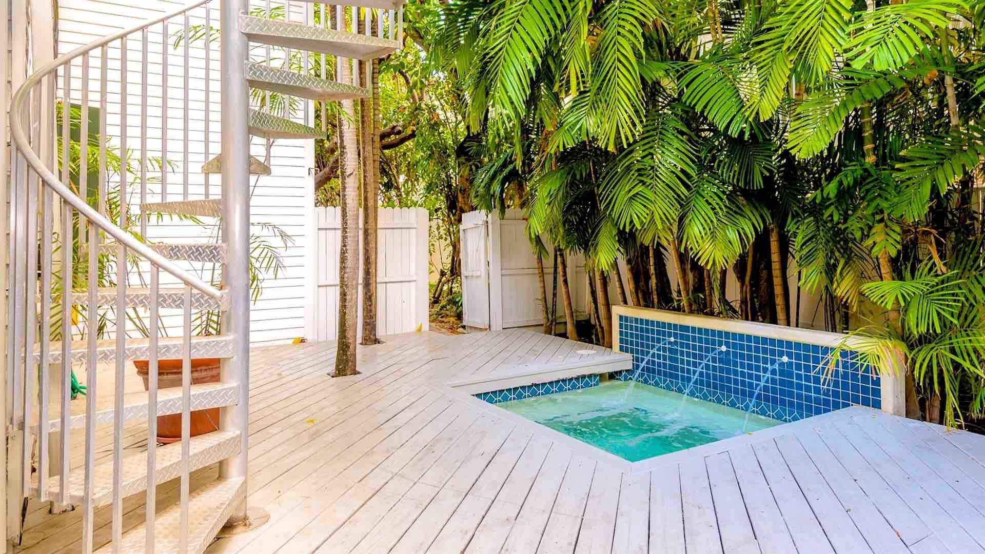 There is also a Jacuzzi tucked in its own corner of the pool deck for up to four
