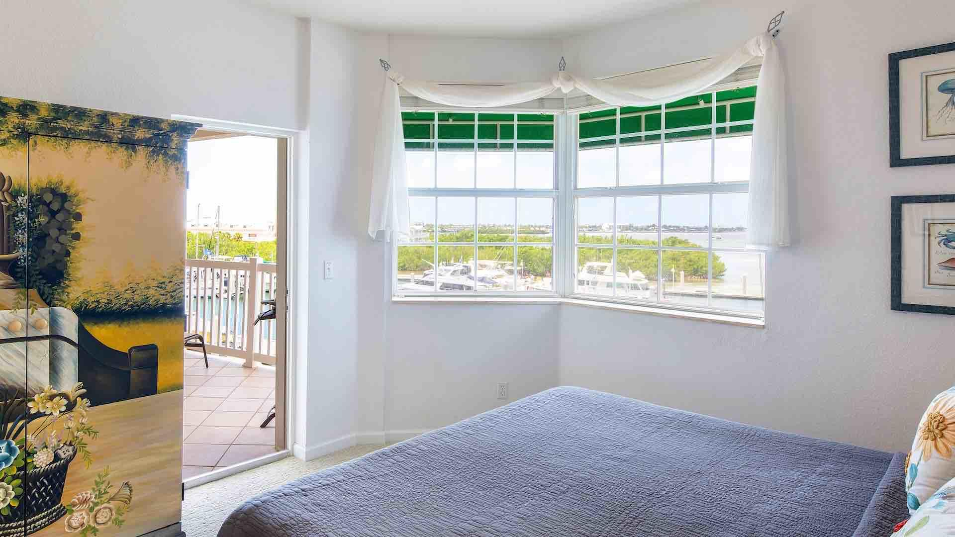 Access the main balcony directly from the master bedroom...