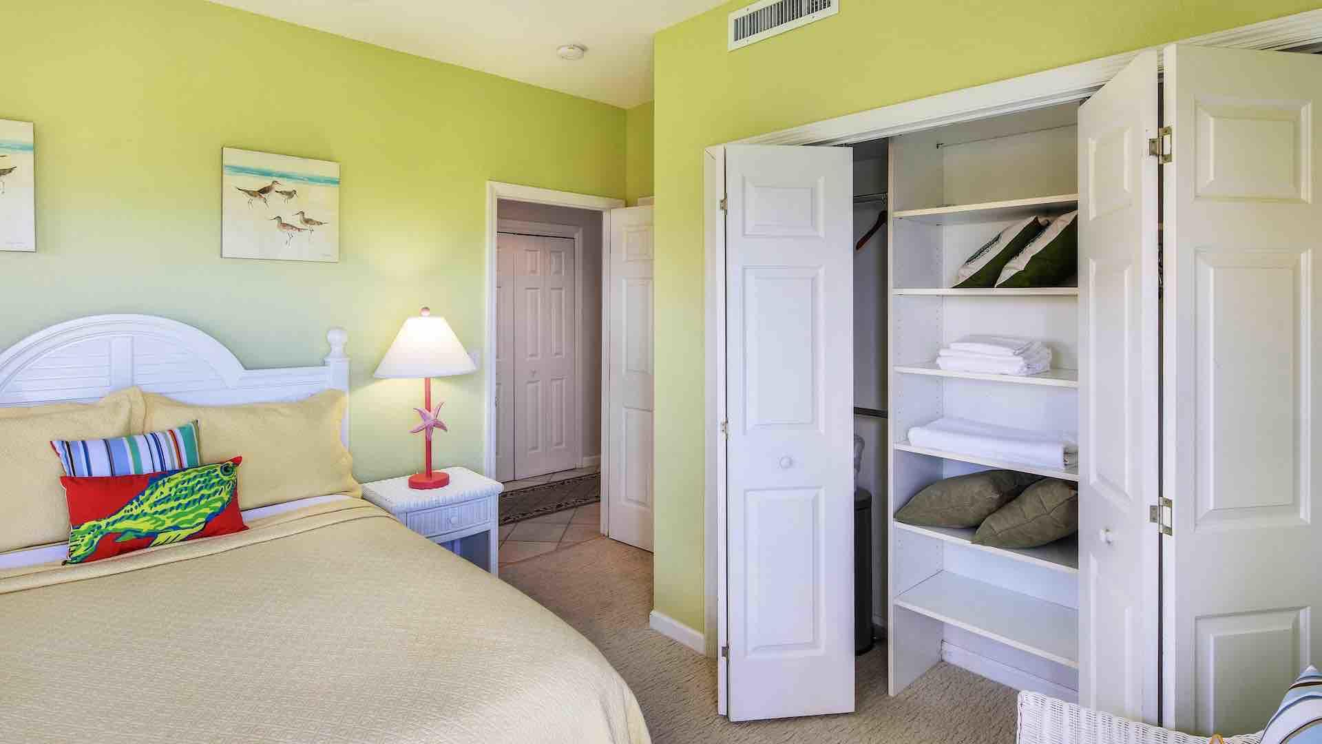 The third bedroom has a large closet too...