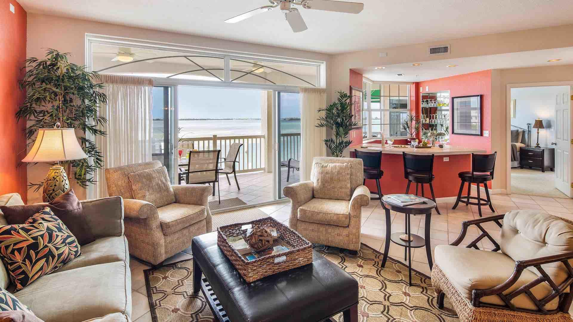 This condo is an end unit with commanding views over the Florida Bay...