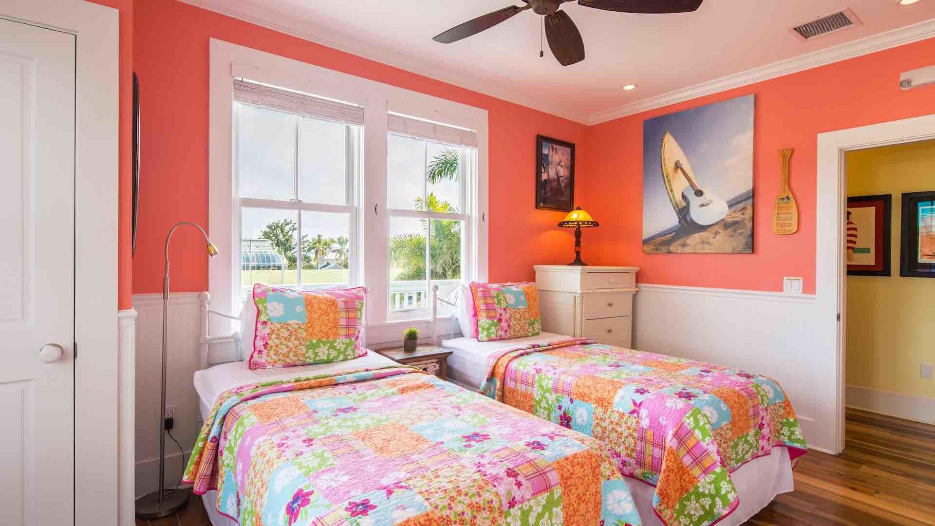 The fifth bedroom has two twin beds that can convert to a King upon request...