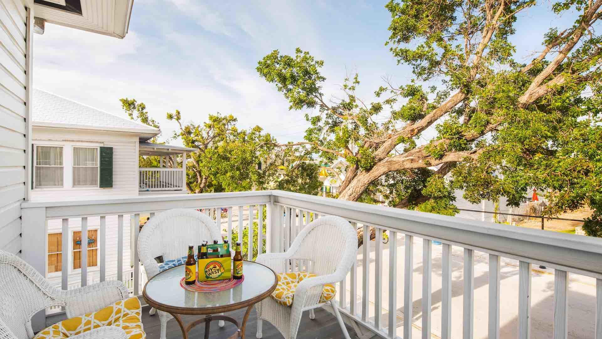 Enjoy your own private happy hour on the balcony...