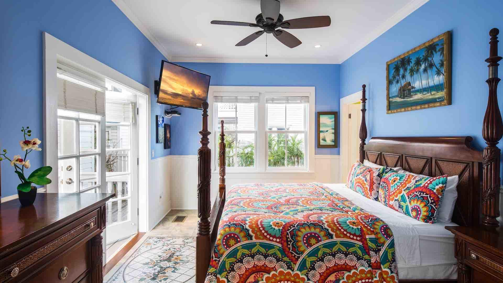 The Master Suite is located on the first floor, with a King bed and flat screen TV...