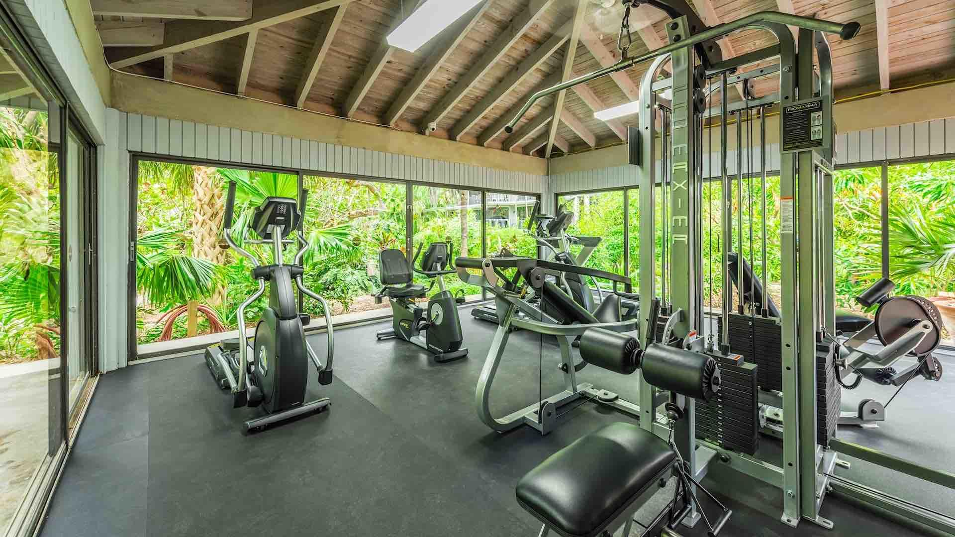 Guests have access to the newly constructed Fitness Center...