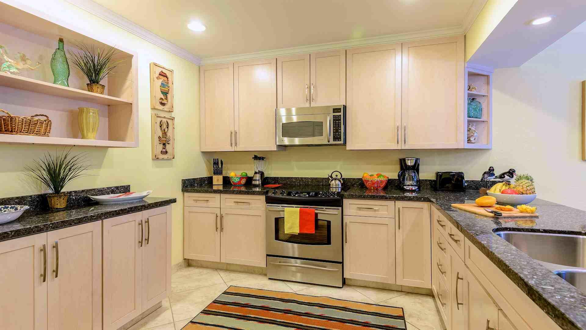 The kitchen has been fully upgraded & completely equipped to prepare any meal...