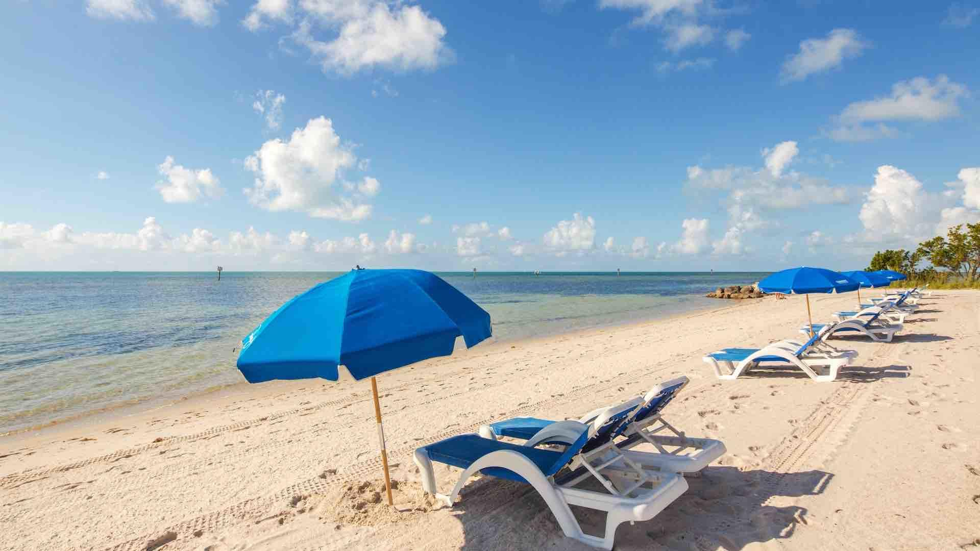 Smathers beach offers chair and umbrella rentals...