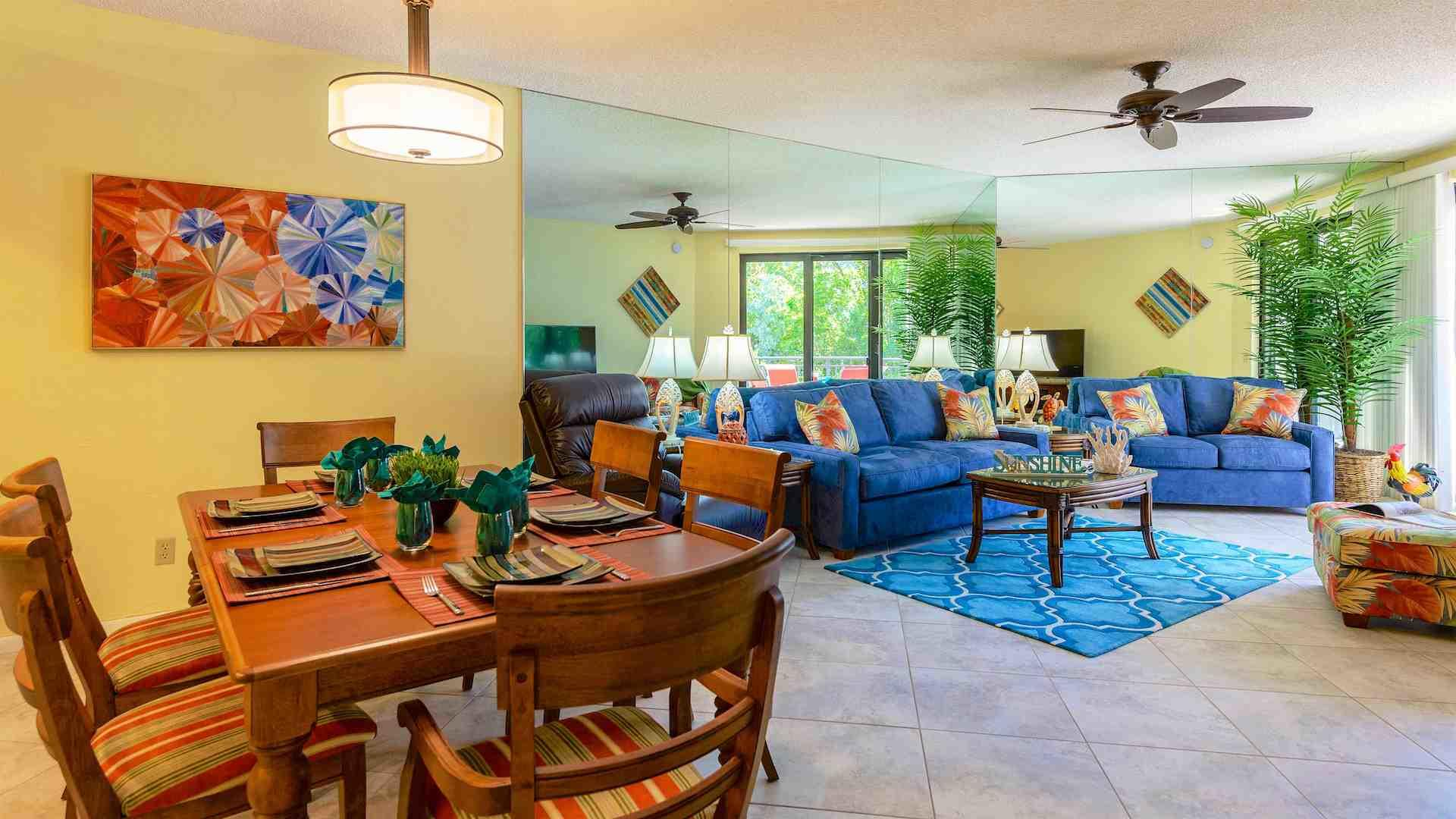 The spacious open design is deal for entertaining...