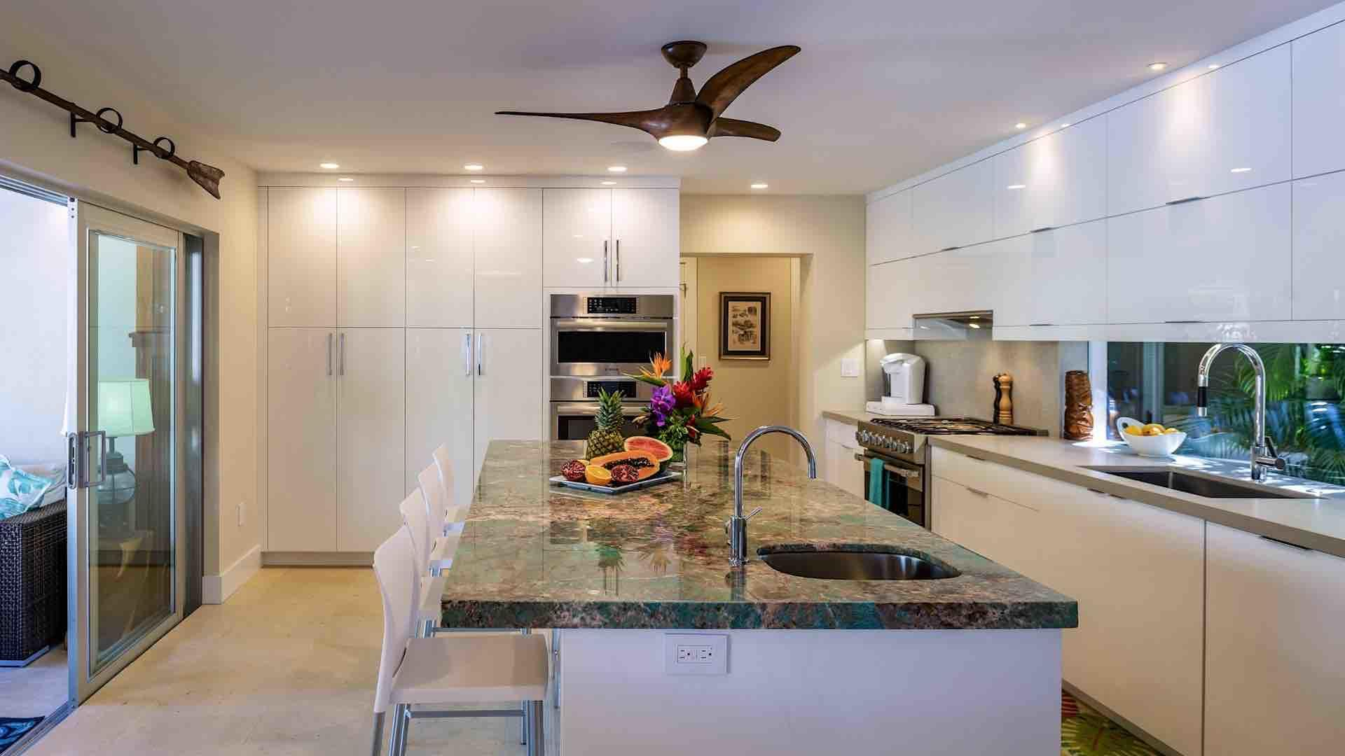 The completely renovated kitchen is fully equipped with all of the tools and appliances you'll need to whip up a home cooked meal...