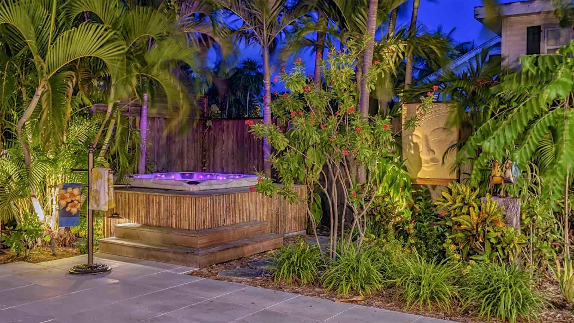 The Jacuzzi spa is great on those cooler nights or for soaking after a day of walking or biking through the island...