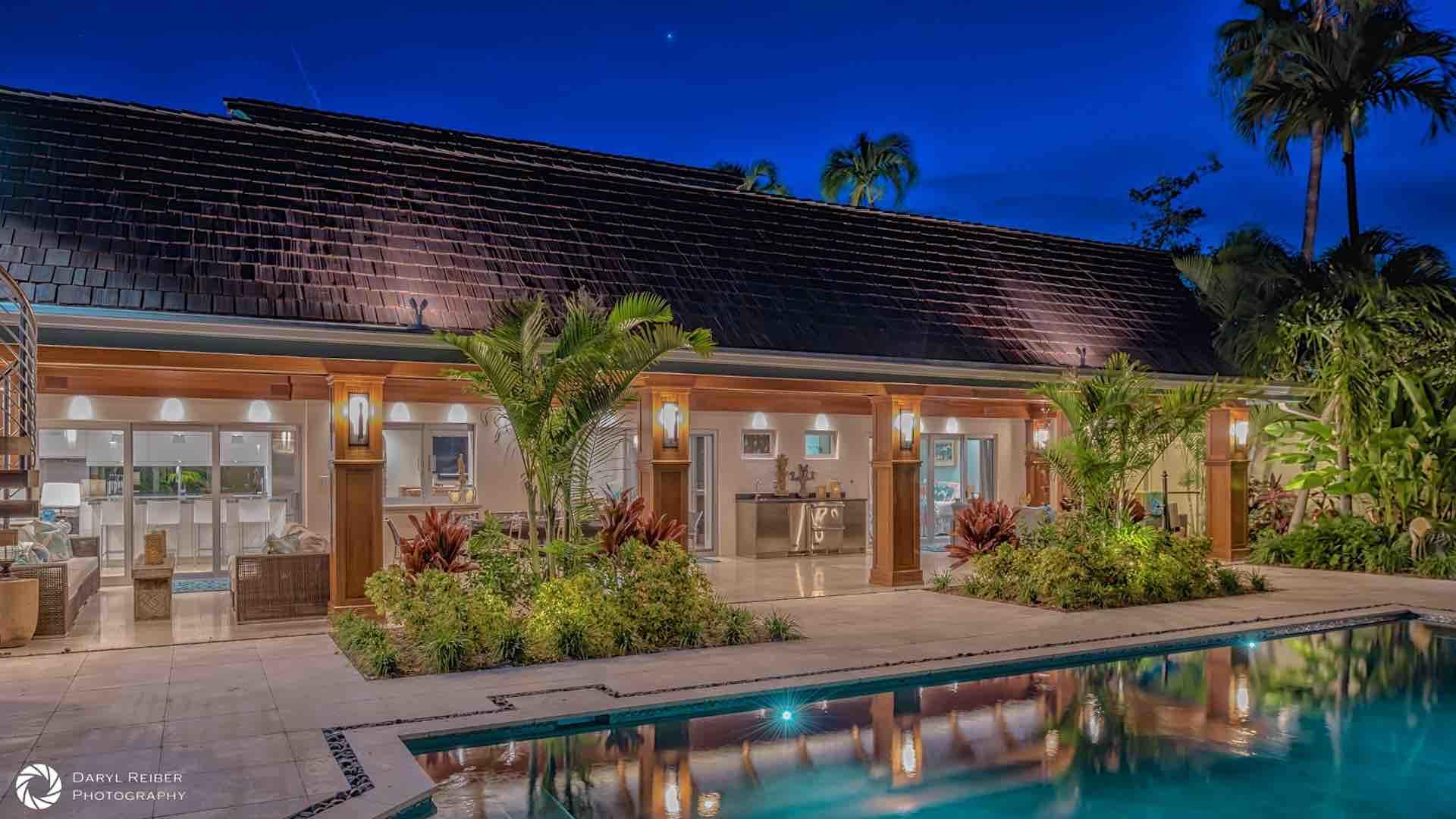 Outdoor and landscape lighting allow you to enjoy the pool and outdoor area even at night...