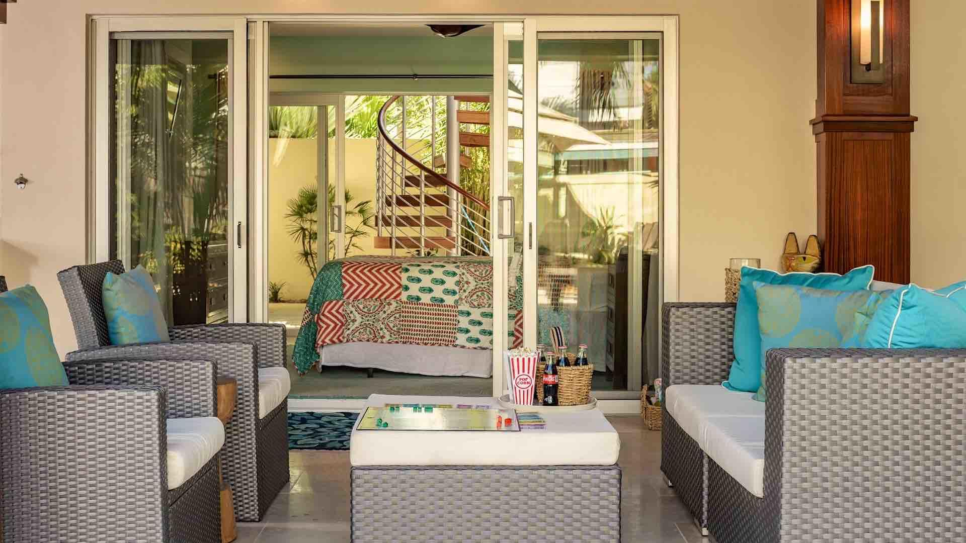 Start your day with morning coffee on the lanai while you plan your group's daily outing...