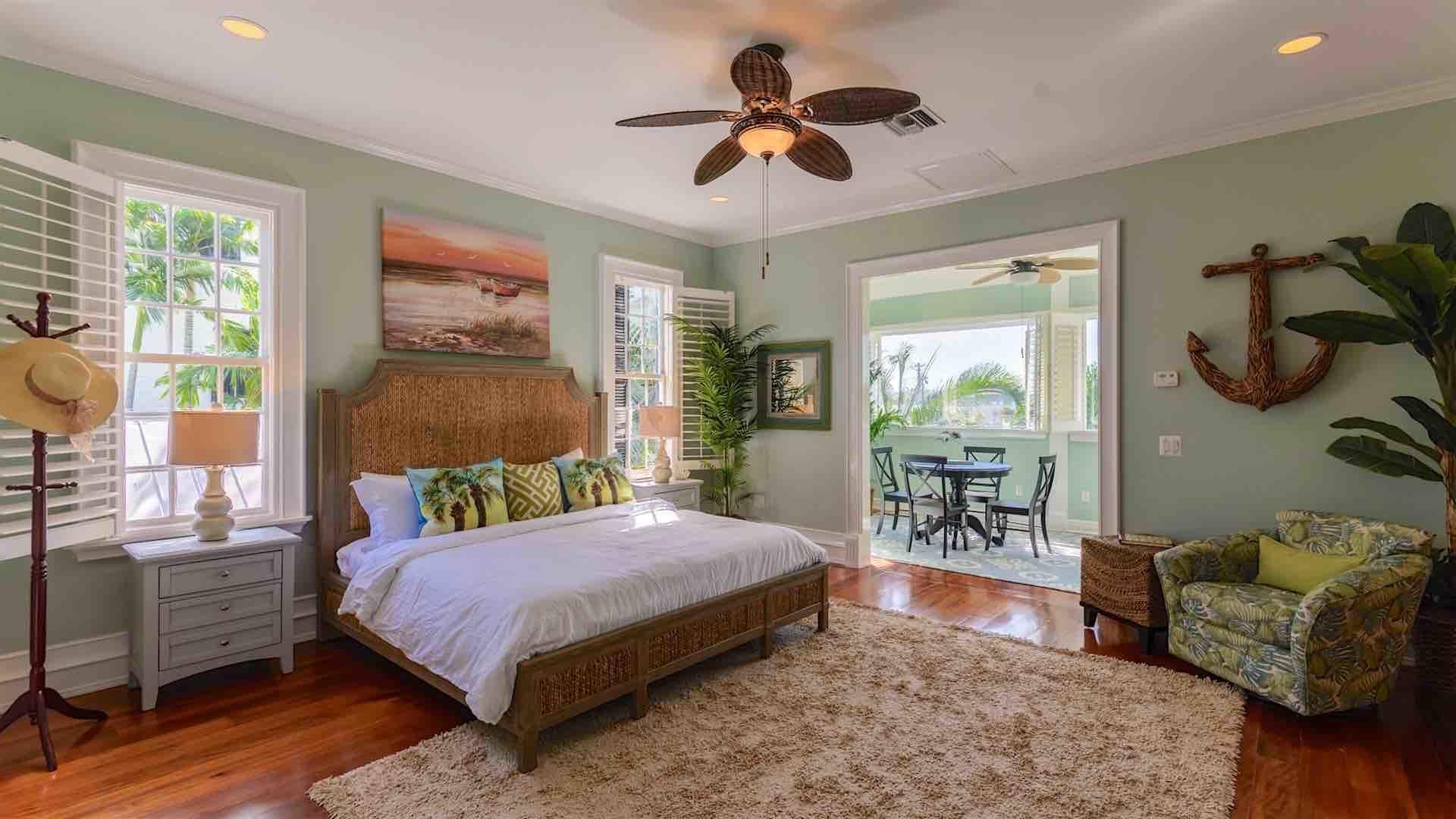 The master bedroom is enormous, with king bed, walk-in closet and sitting area...