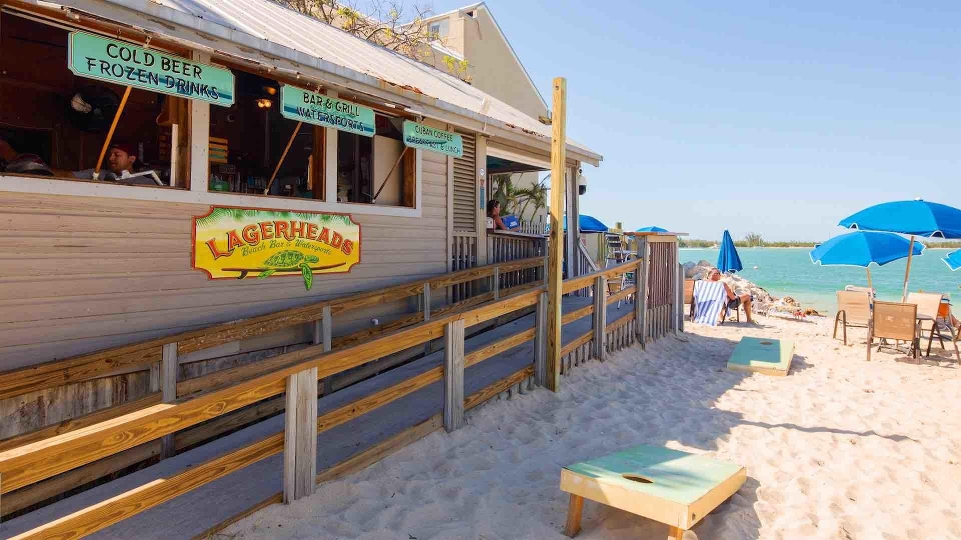 Get yourself a cold drink at Lagerheads, located at Simonton Beach...
