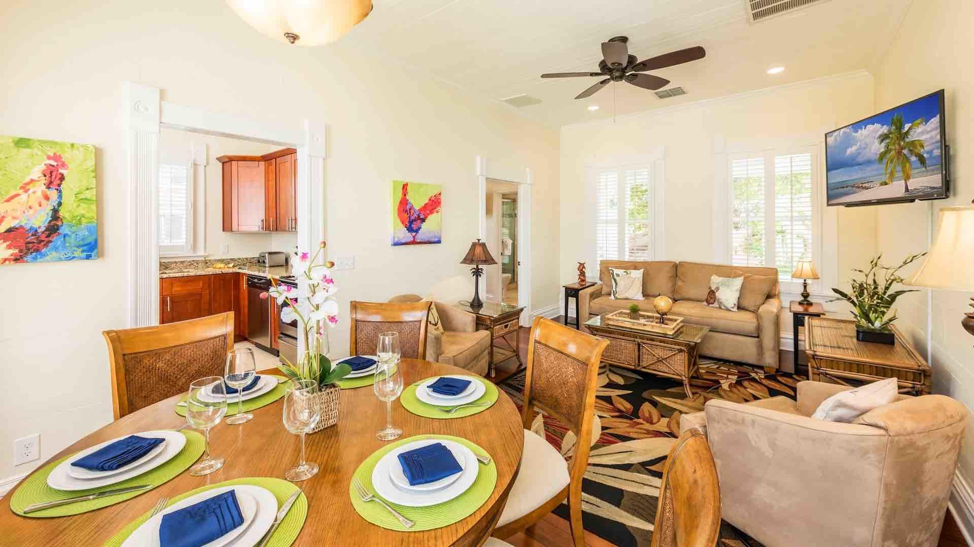 The open living area offers plenty of space for everyone and is perfect for entertaining...