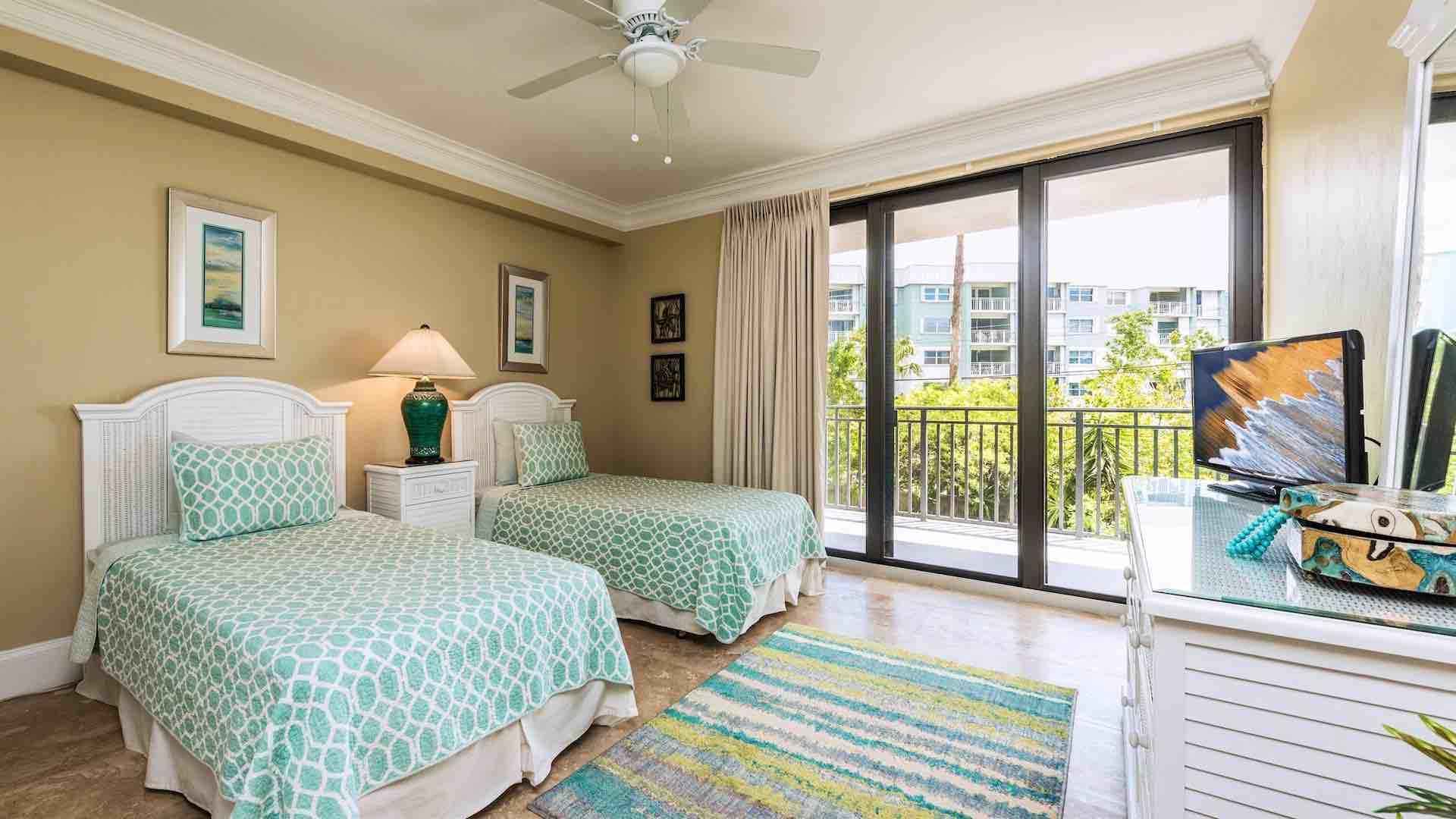 The third bedroom has two twin beds that can convert to a King upon request...