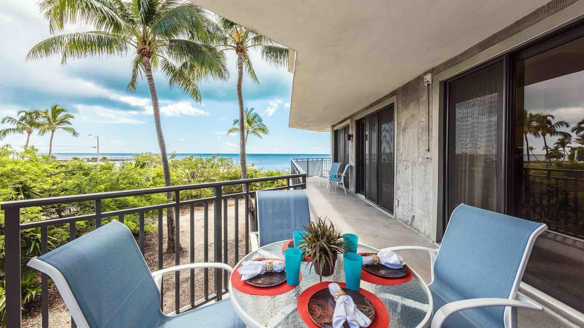 Enjoy an outdoor meal on the balcony using the dining set...