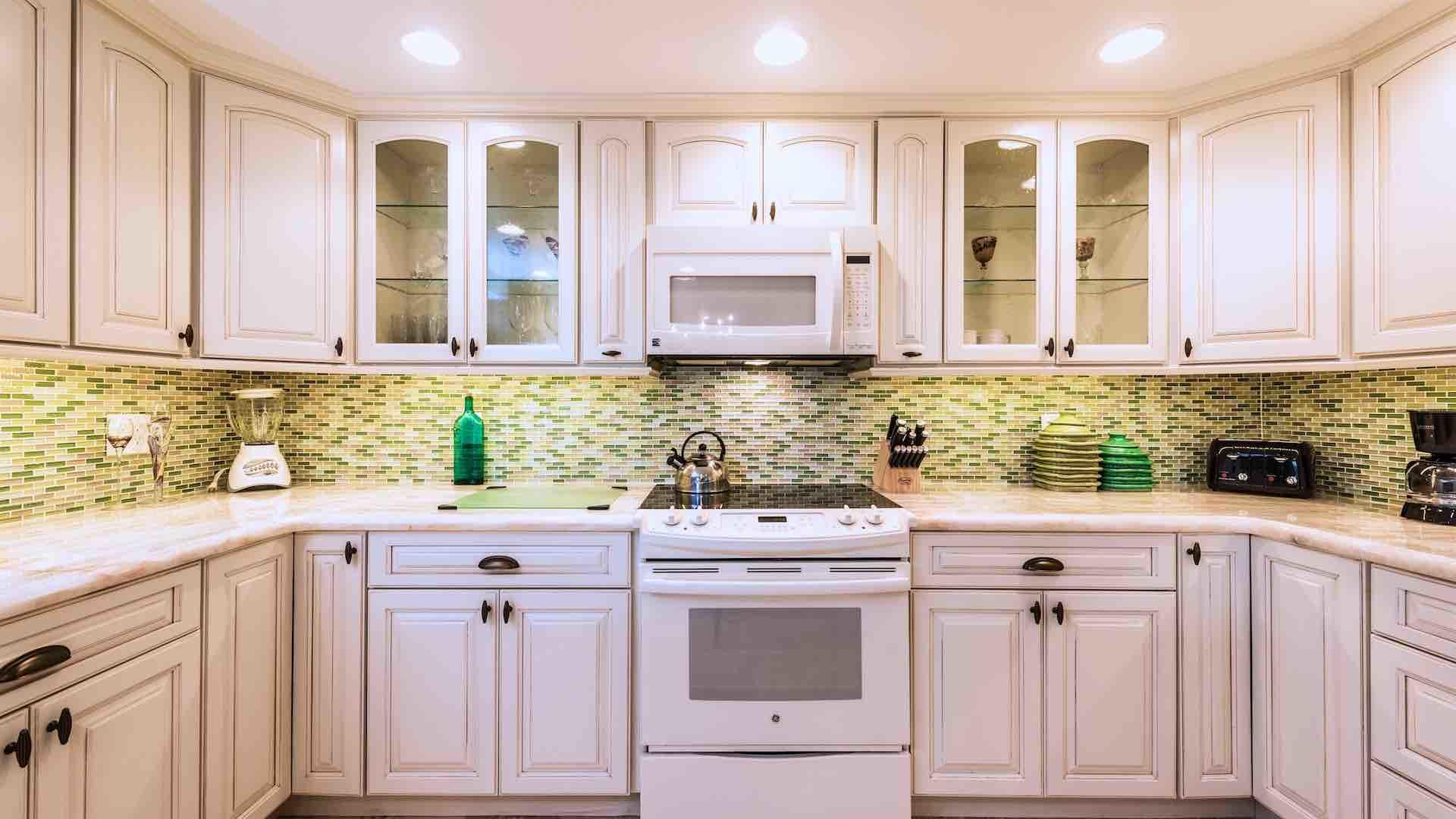 The fully renovated kitchen is equipped with every tool needed to prepare a meal...