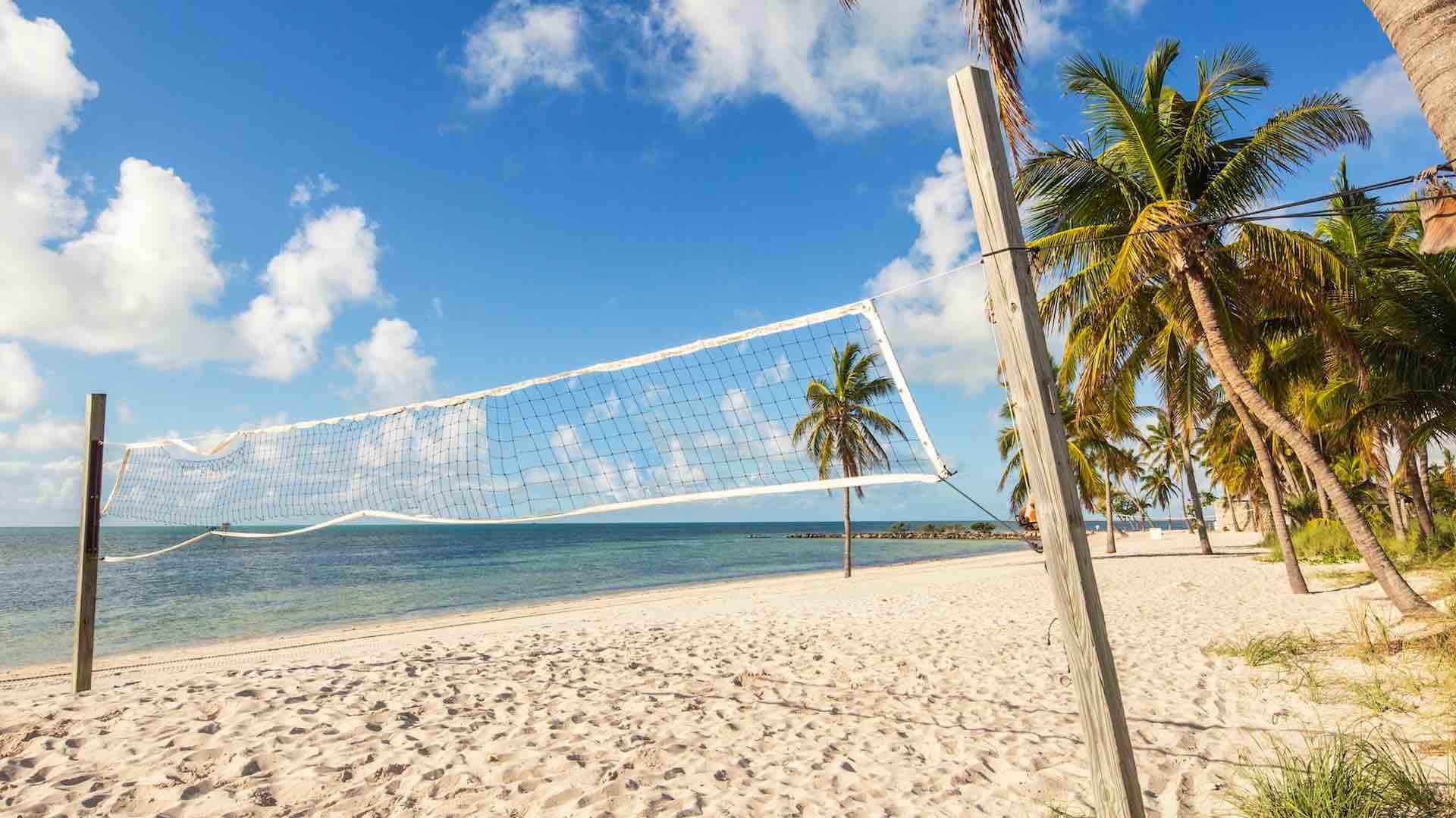 Smathers beach has volleyball nets and other fun activities...