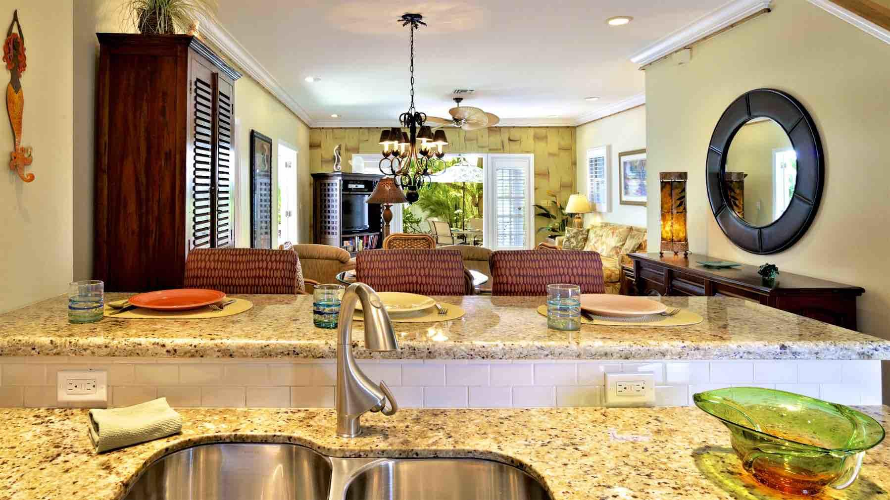 The open floor plan is perfect for entertaining...