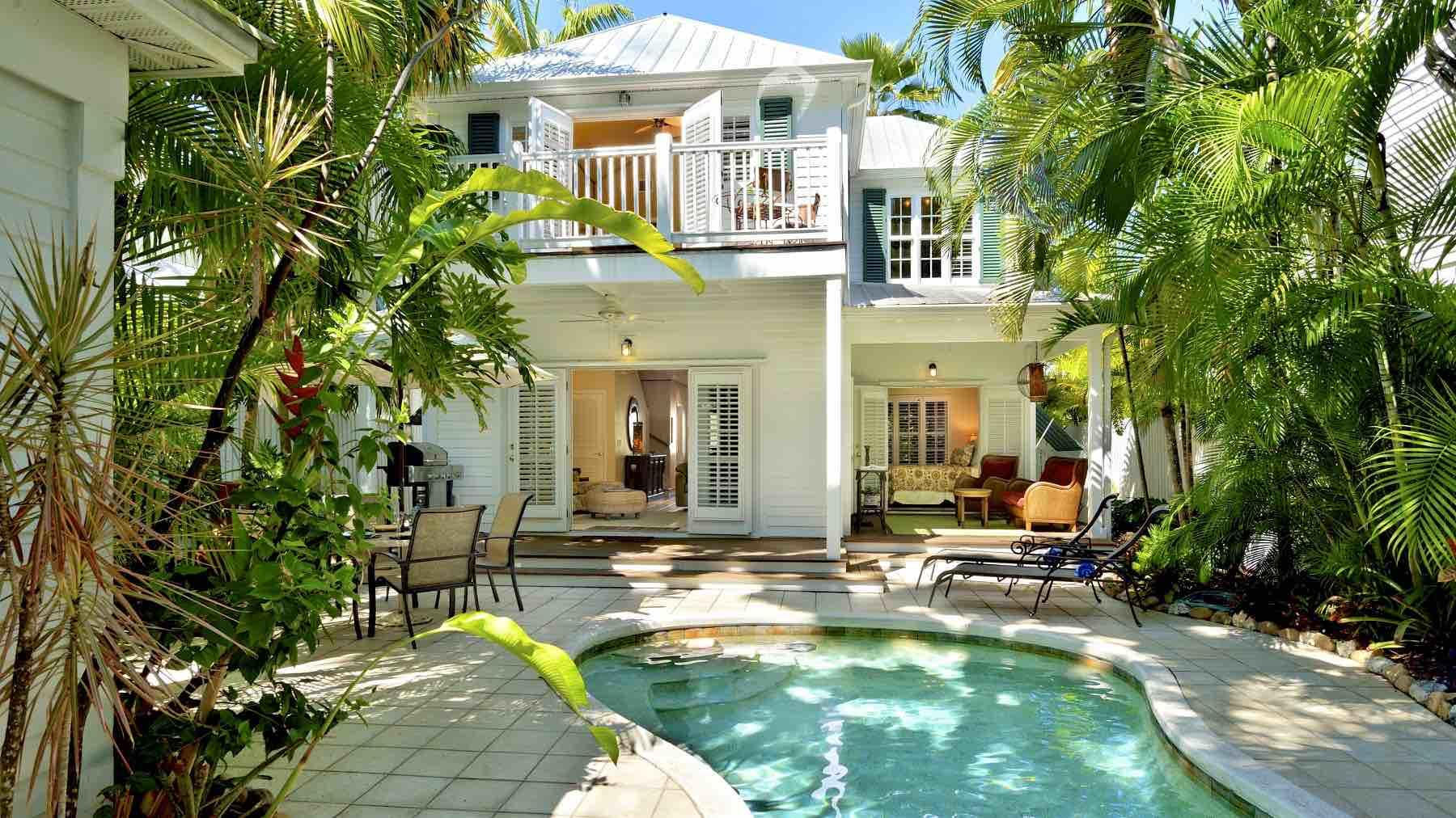 Vacation Home with pool, large patio area and 3 bedrooms in Key West, FL