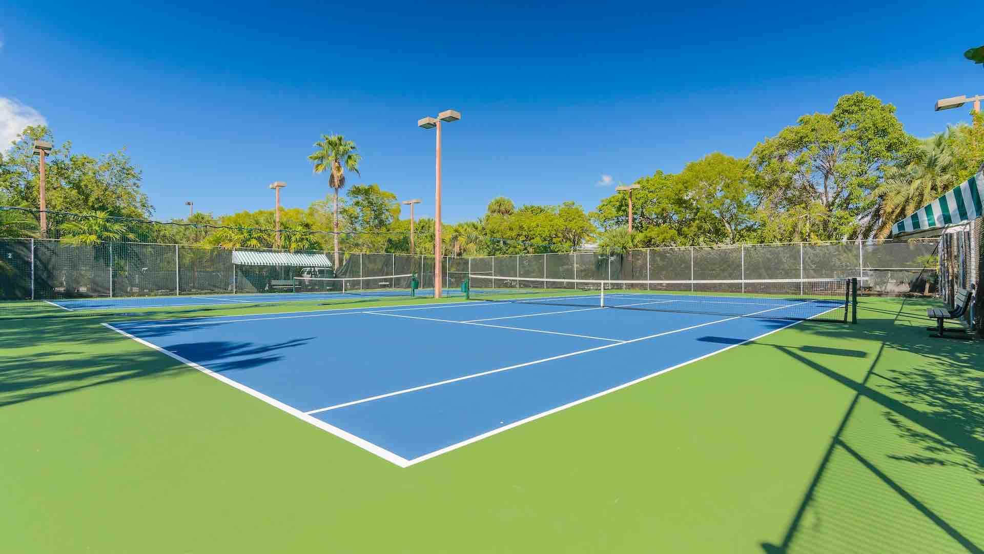You'll have access to the clay Tennis Courts located on site...