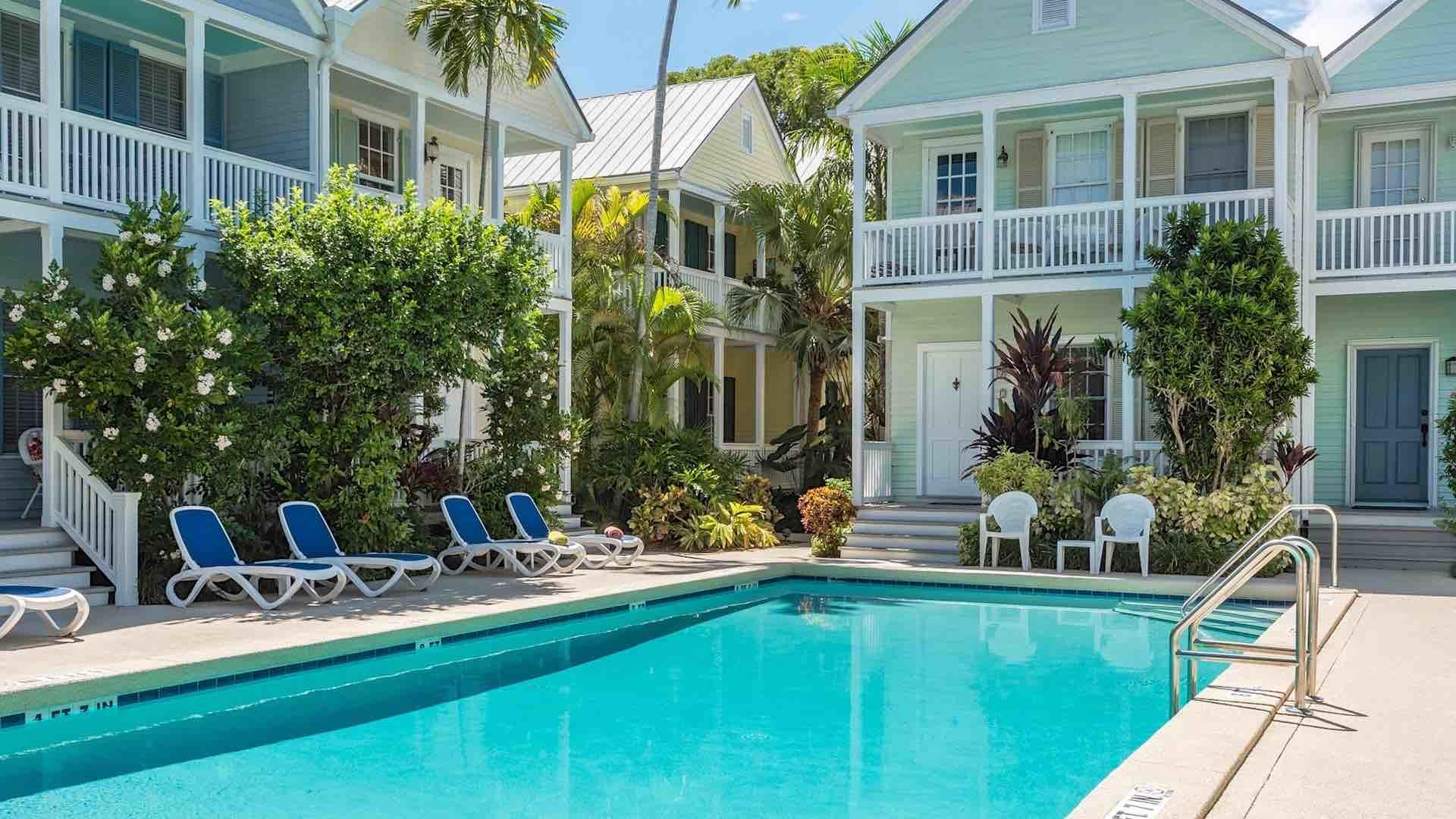 The community pool is just steps from your front door and is heated in the cooler months...
