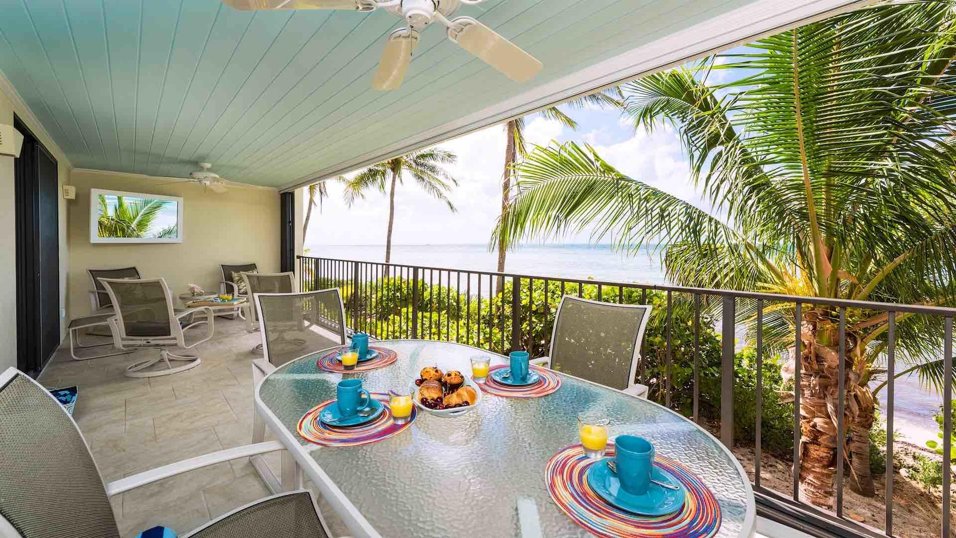 Oceanfront condo rental in Key West with 2 bedrooms and heated community pool