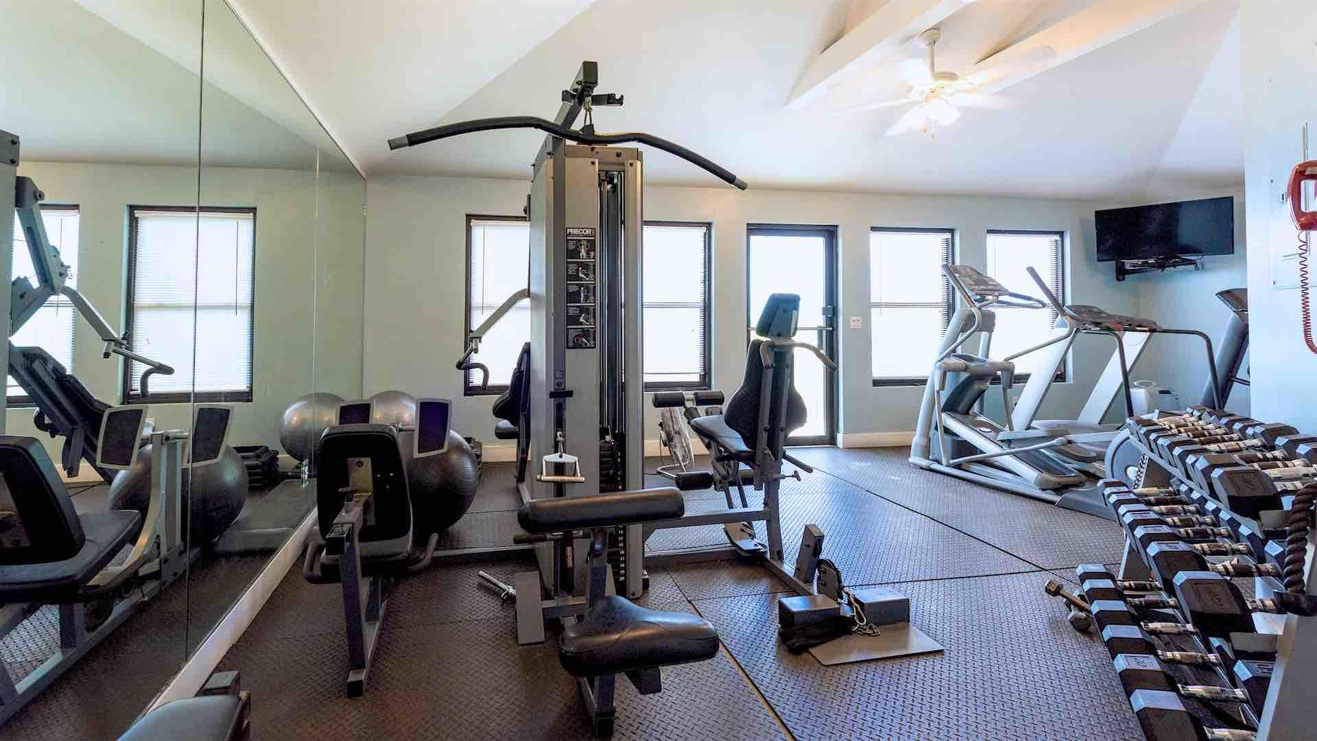 Enjoy a nice workout in the Fitness Center...
