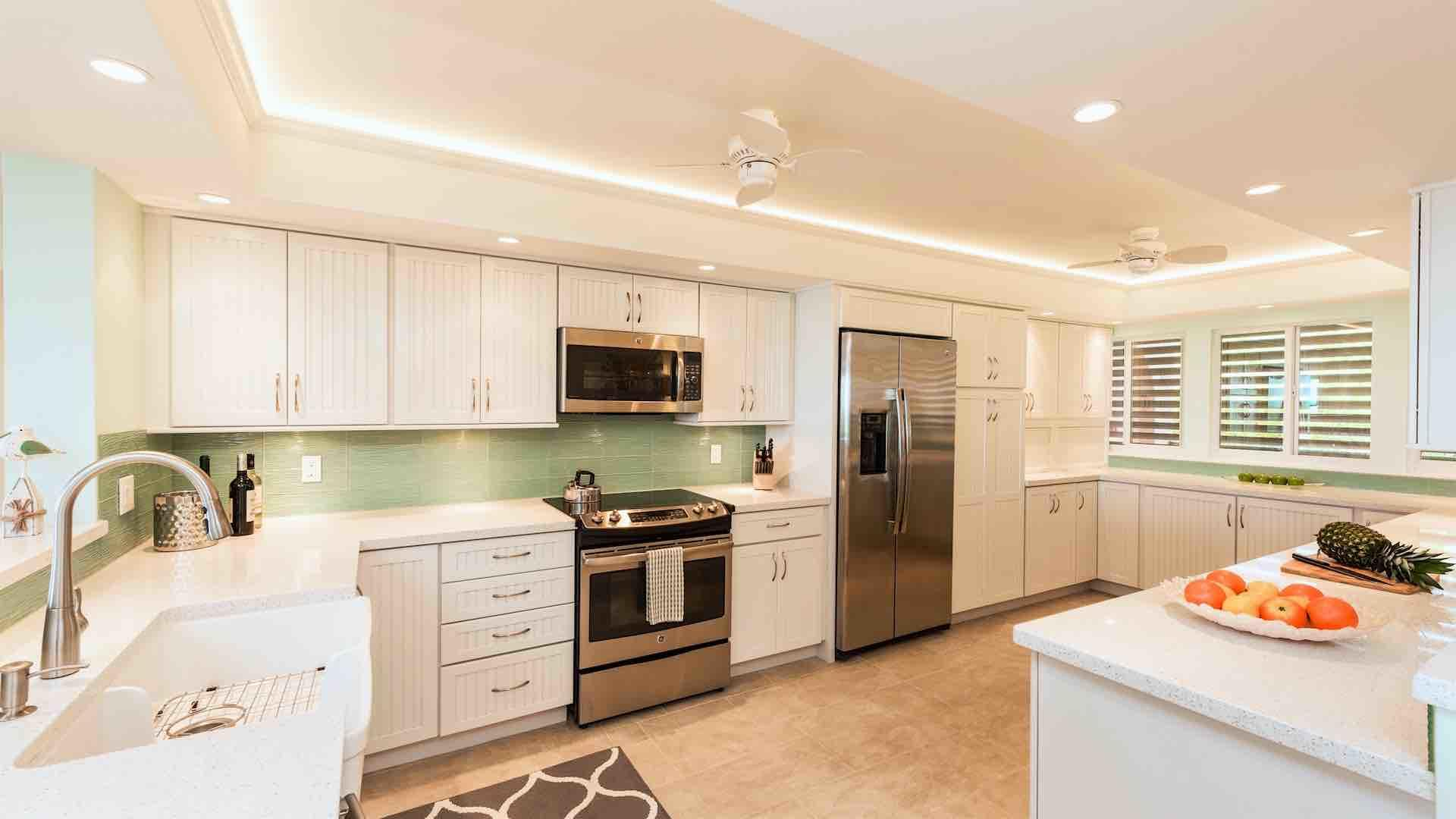 Prepare meals from home in this delightful kitchen...