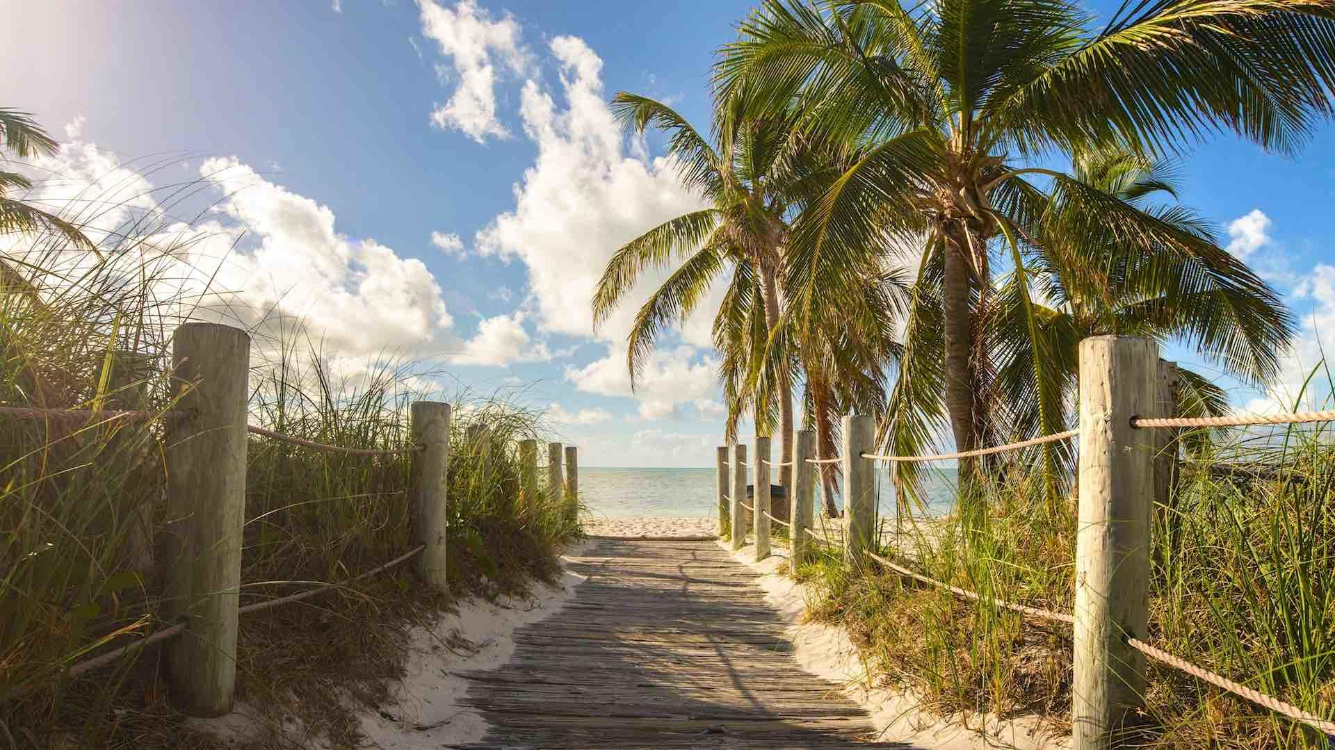 Smathers Beach is located right around the corner from the condo...