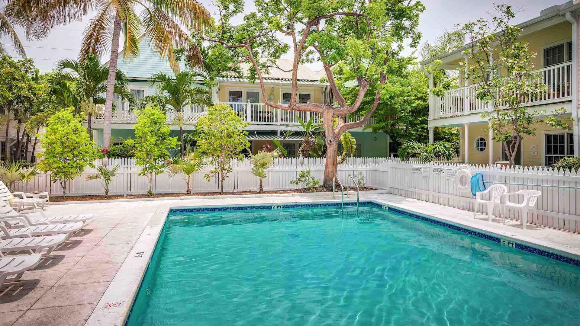 The Community Pool is located a short walk from the condo...