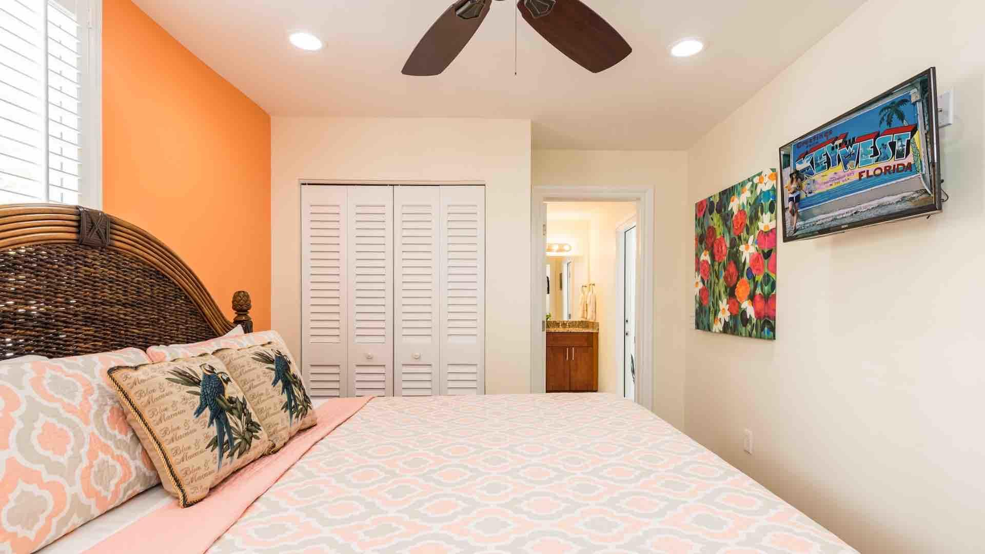 The downstairs master bedroom also has a large closet and en suite bathroom...