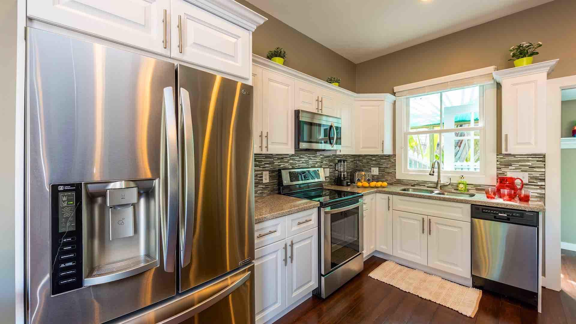 The fully upgraded kitchen is completely equipped with all new stainless steel appliances...