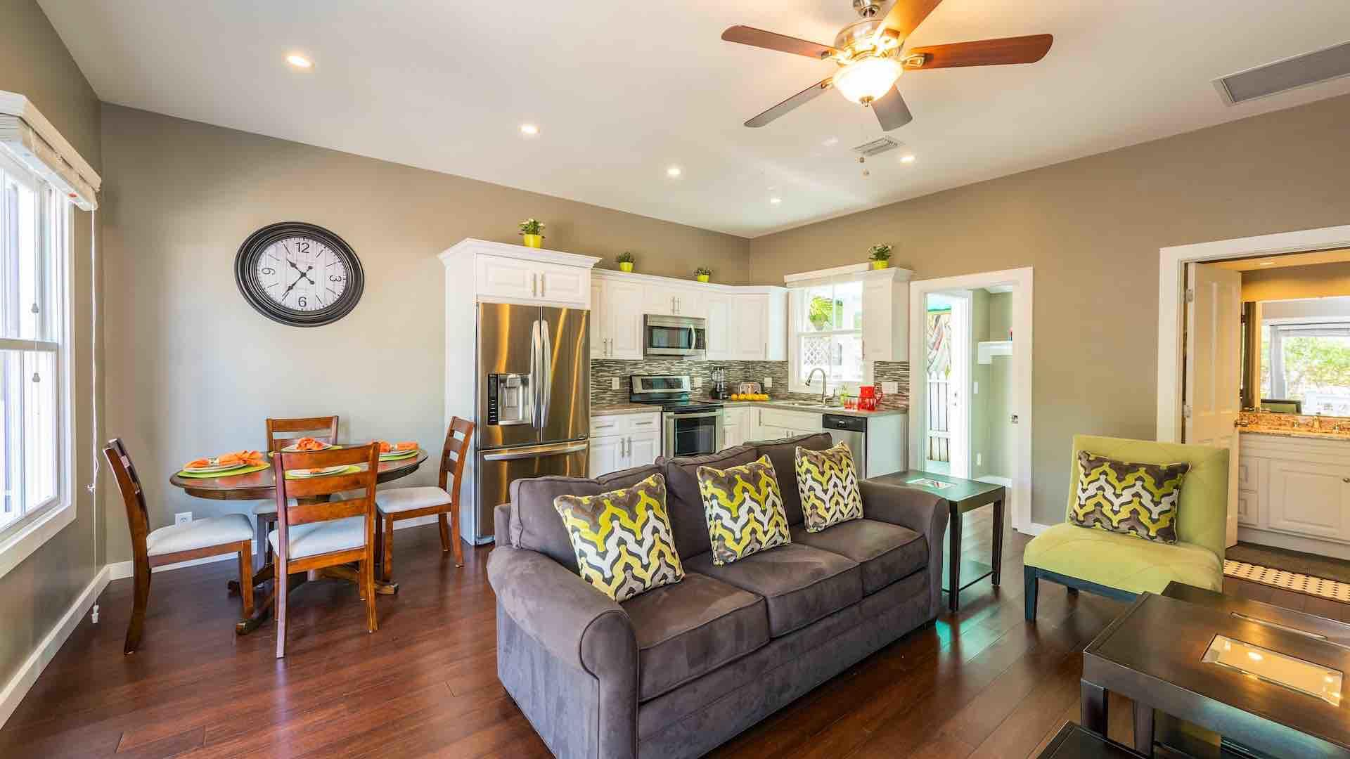 The open layout is perfect for entertaining...
