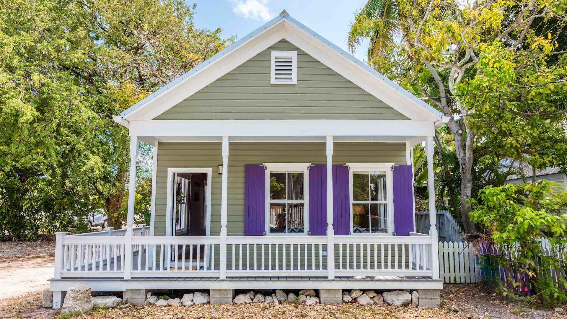 Southernmost Solace has a spacious wrap-around porch...