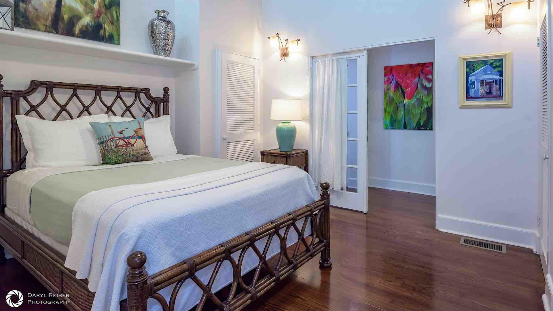 The second bedroom is located down the hall and has a Queen bed...