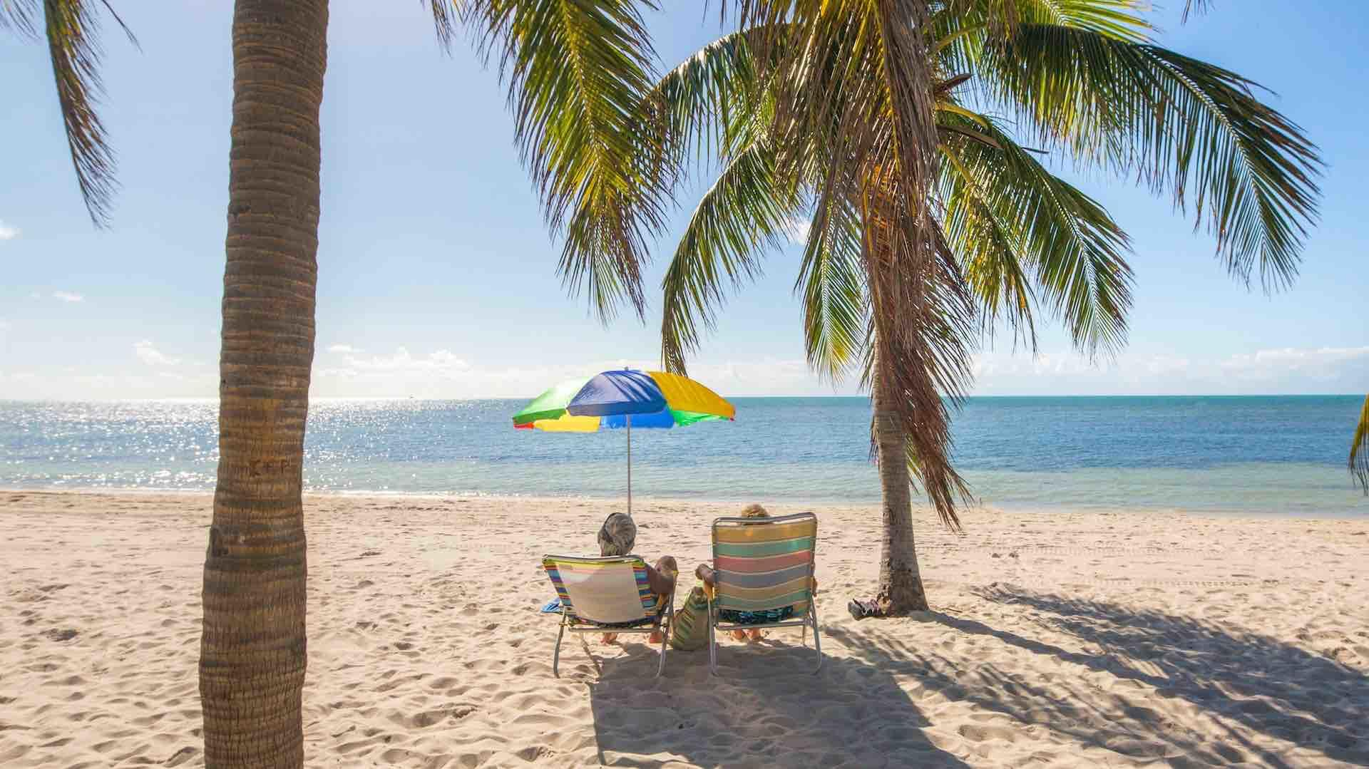 Smathers beach is the largest public beach in Key West, about 1/2 mile long...