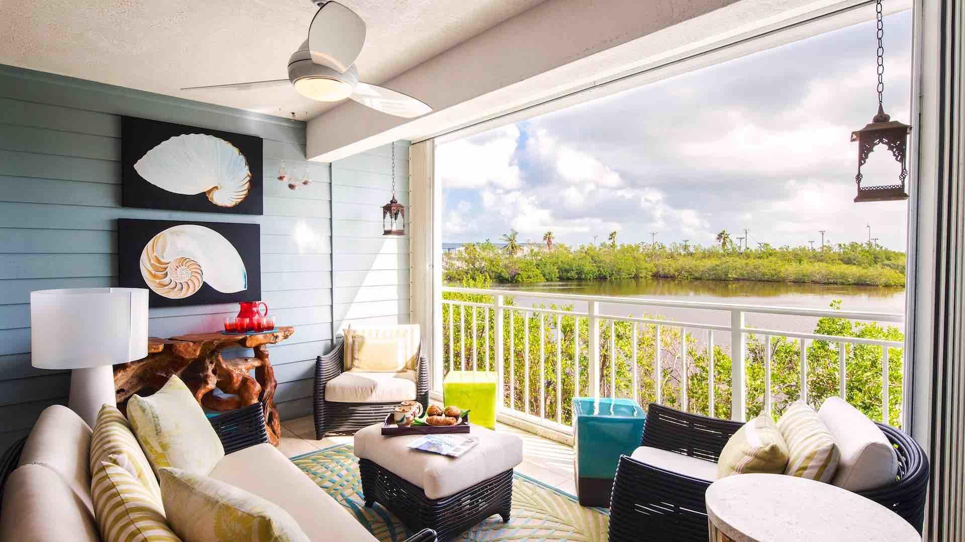 Moondance has a relaxing back patio that offers a peaceful view of the salt ponds...