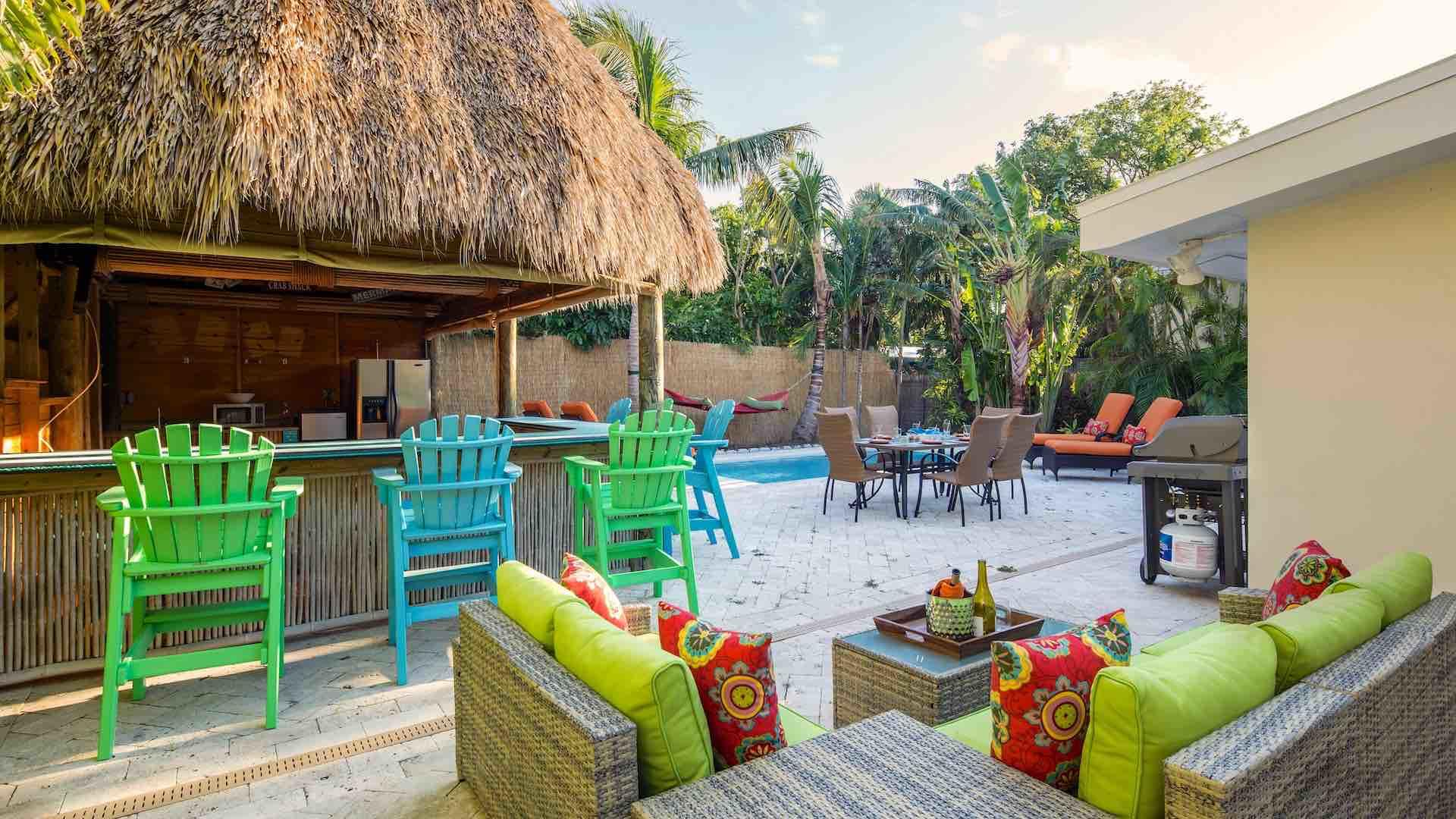 Host your very own happy hours at the Tiki Hut...