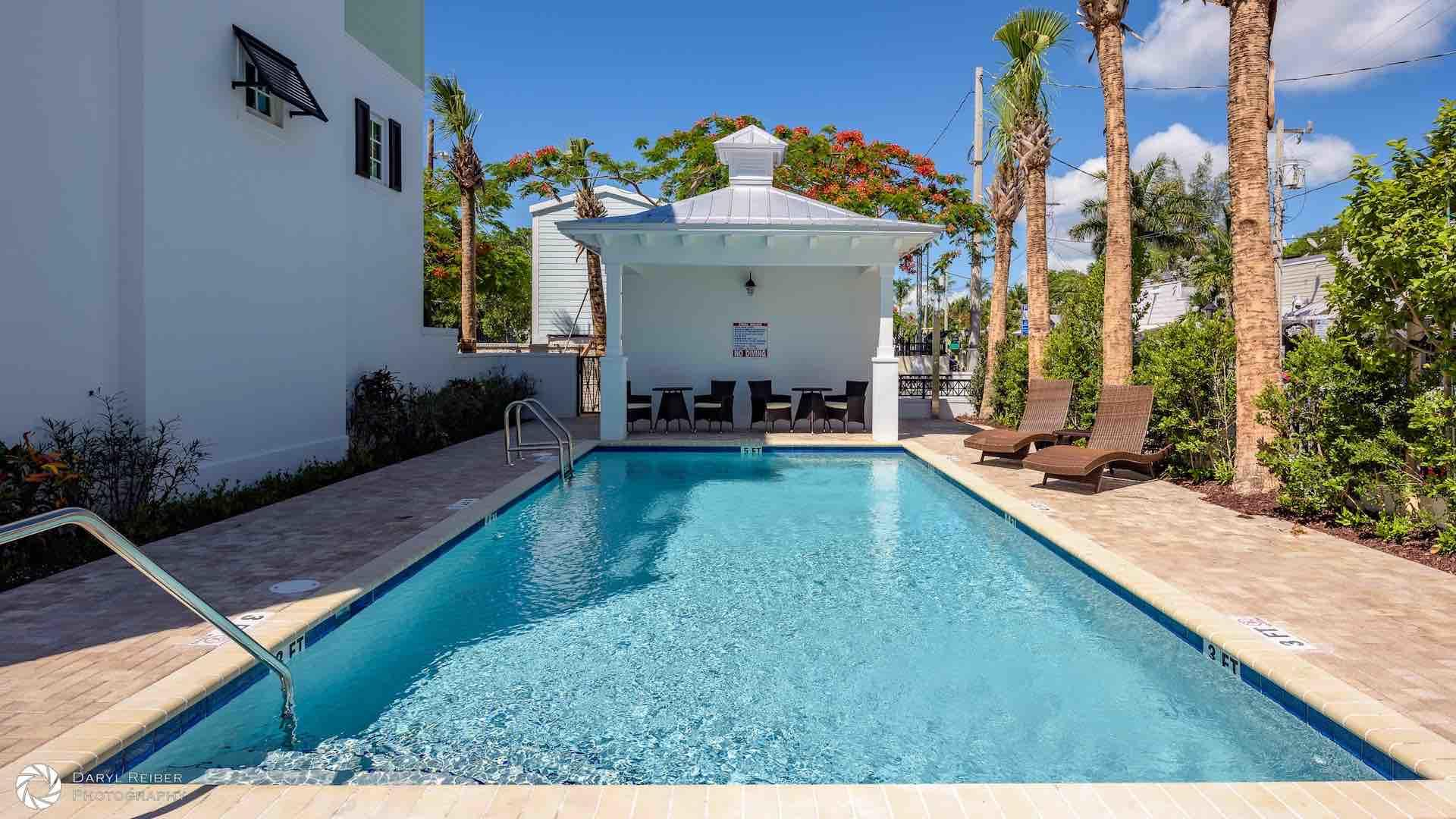 The Community Pool is just steps away from your front door...