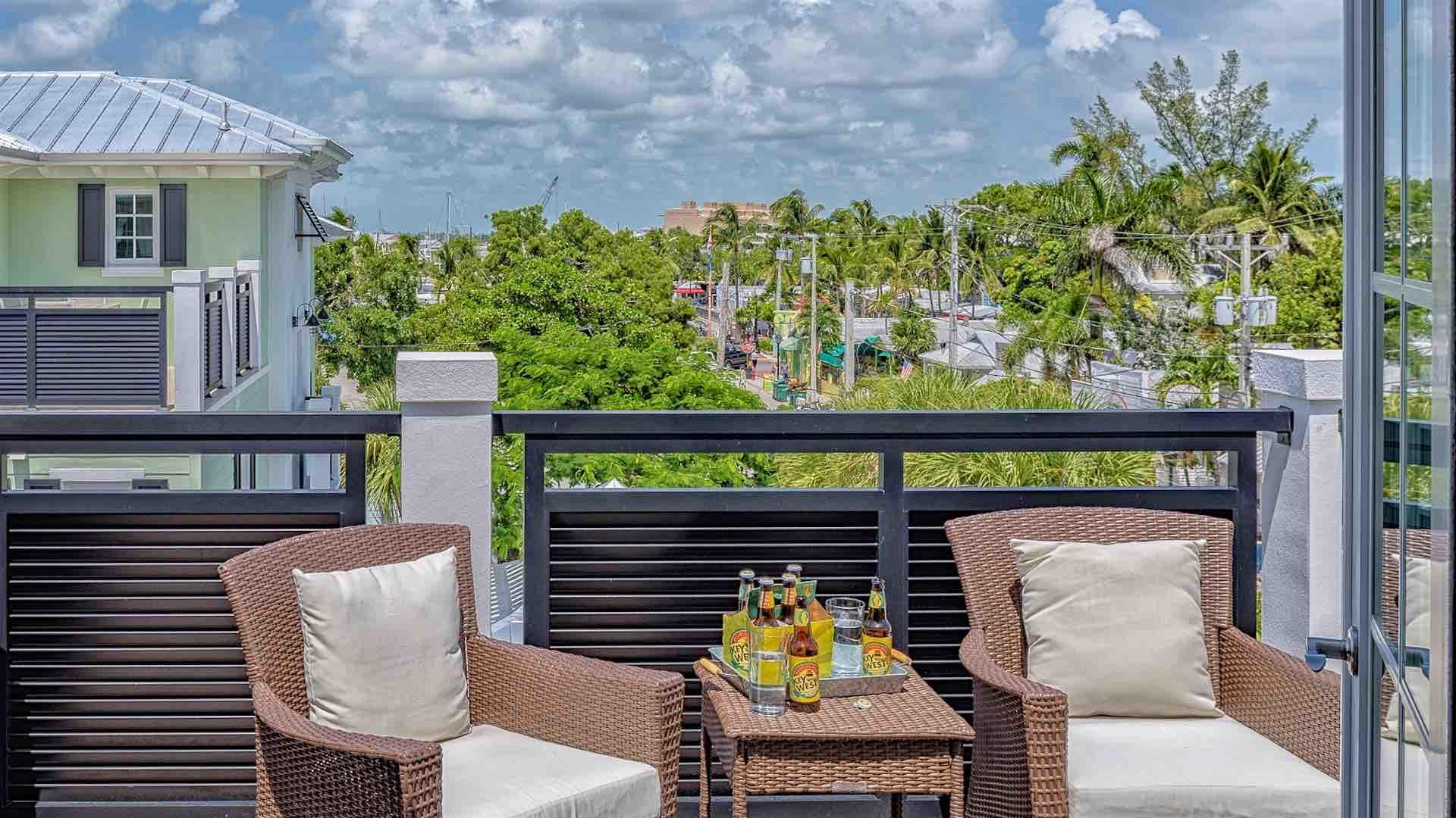 There is a large outdoor terrace with outdoor seating and dining on the fourth floor...