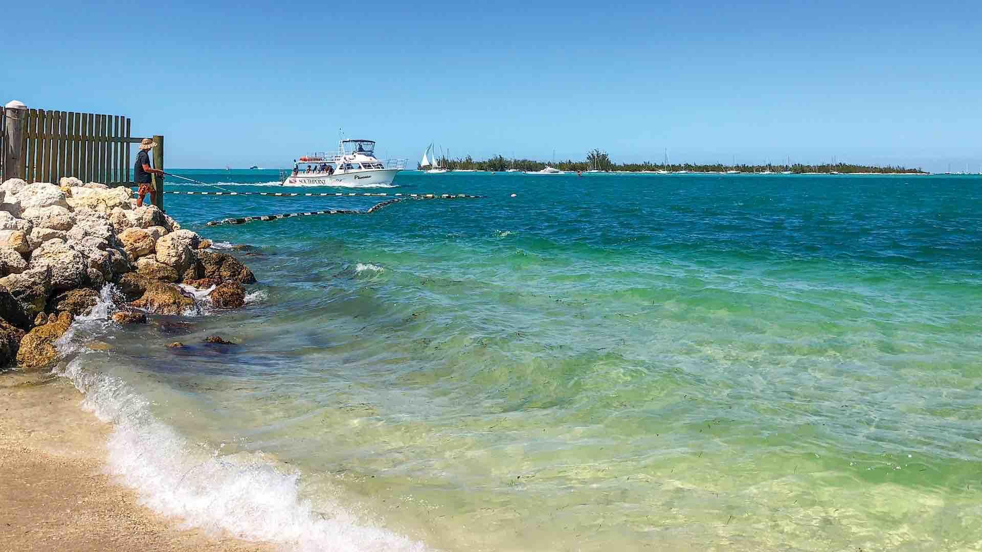 Simonton Beach is located on the Gulf side of the island...