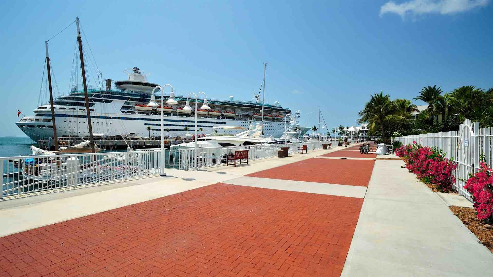 The promenade leads directly to Mallory Square...
